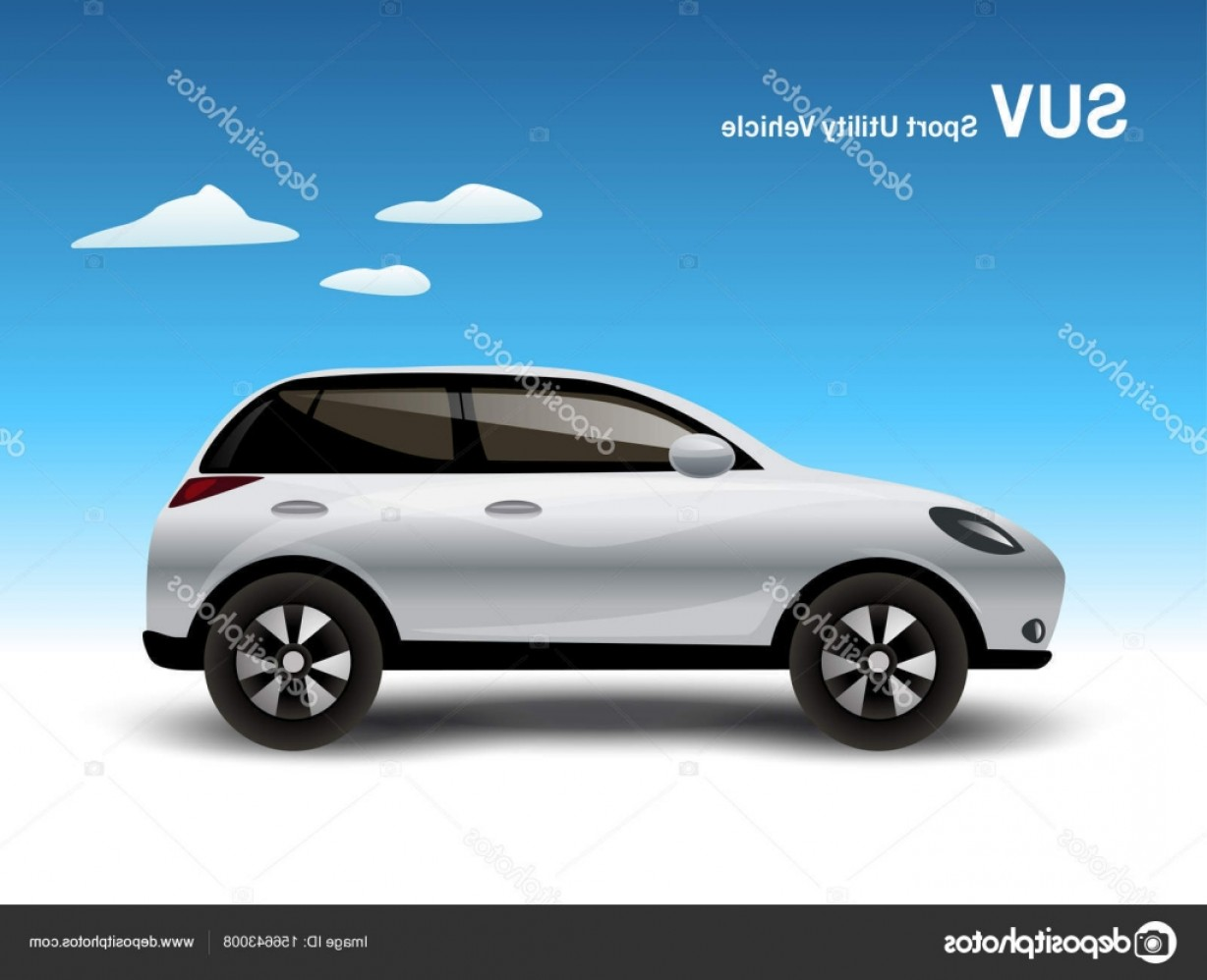 Vector Graphix: Stock Illustration Luxury White Compact Suv Car