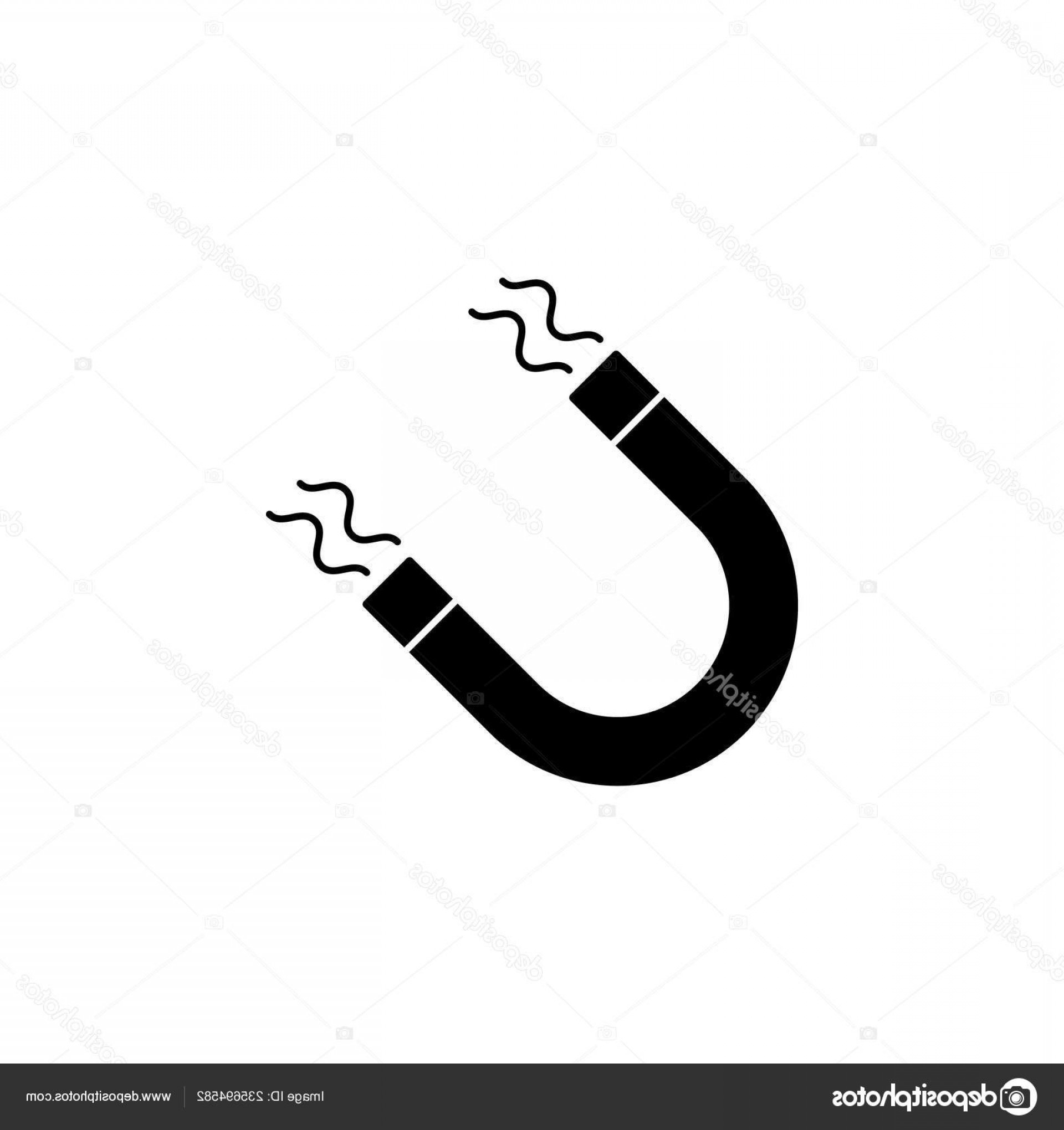 Attraction Icon Vector: Stock Illustration Magnet Vector Icon White Background