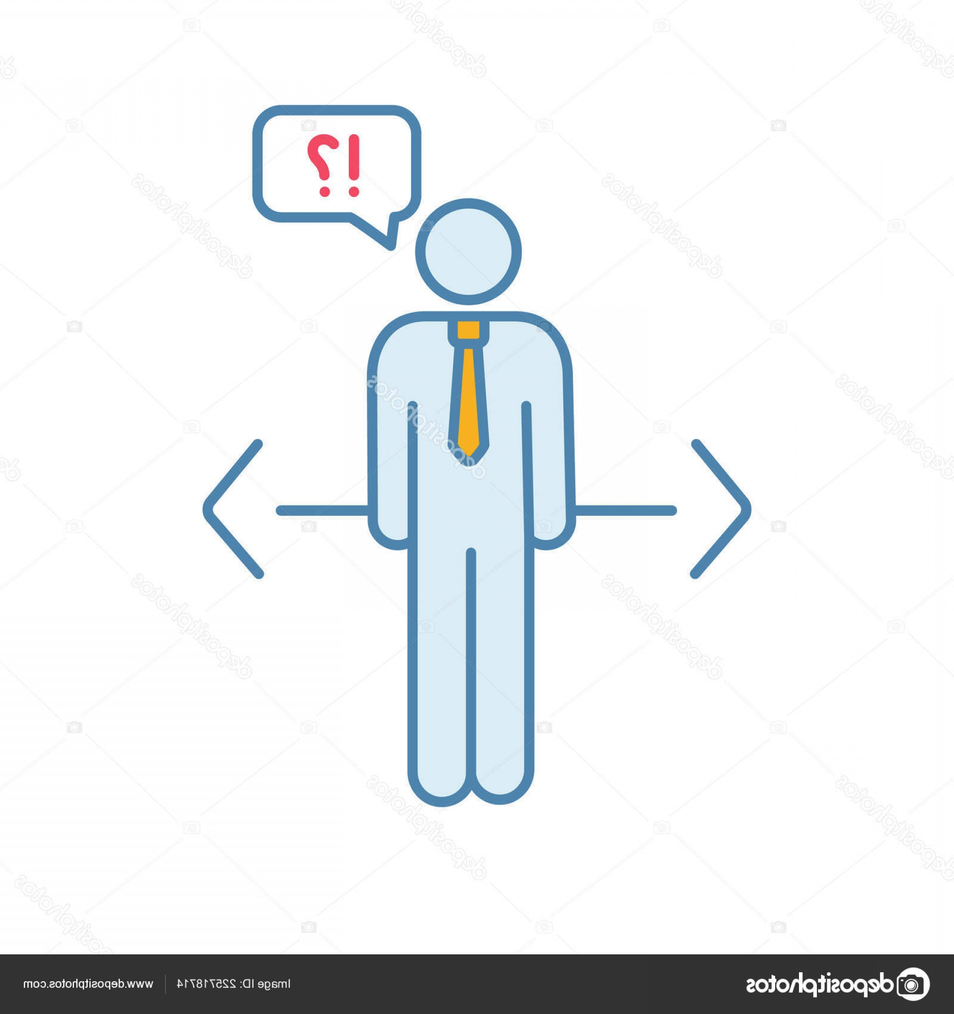 Vector Job Opportunities: Stock Illustration Making Choice Color Icon Decision