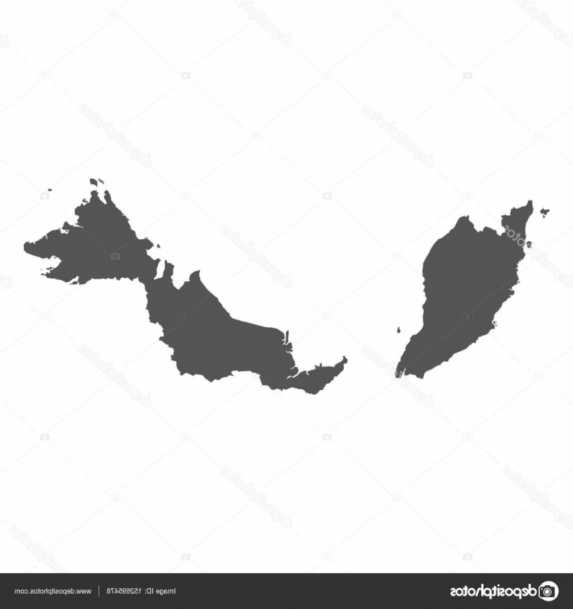 BG Vector Map: Stock Illustration Malaysia Vector Map Black Icon