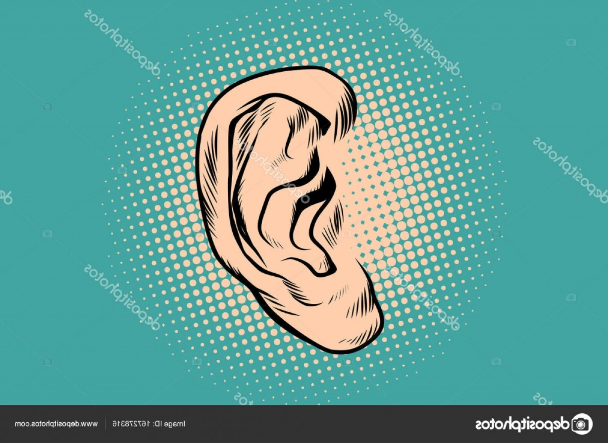 Male Human Vector: Stock Illustration Male Human Ear Pop Art
