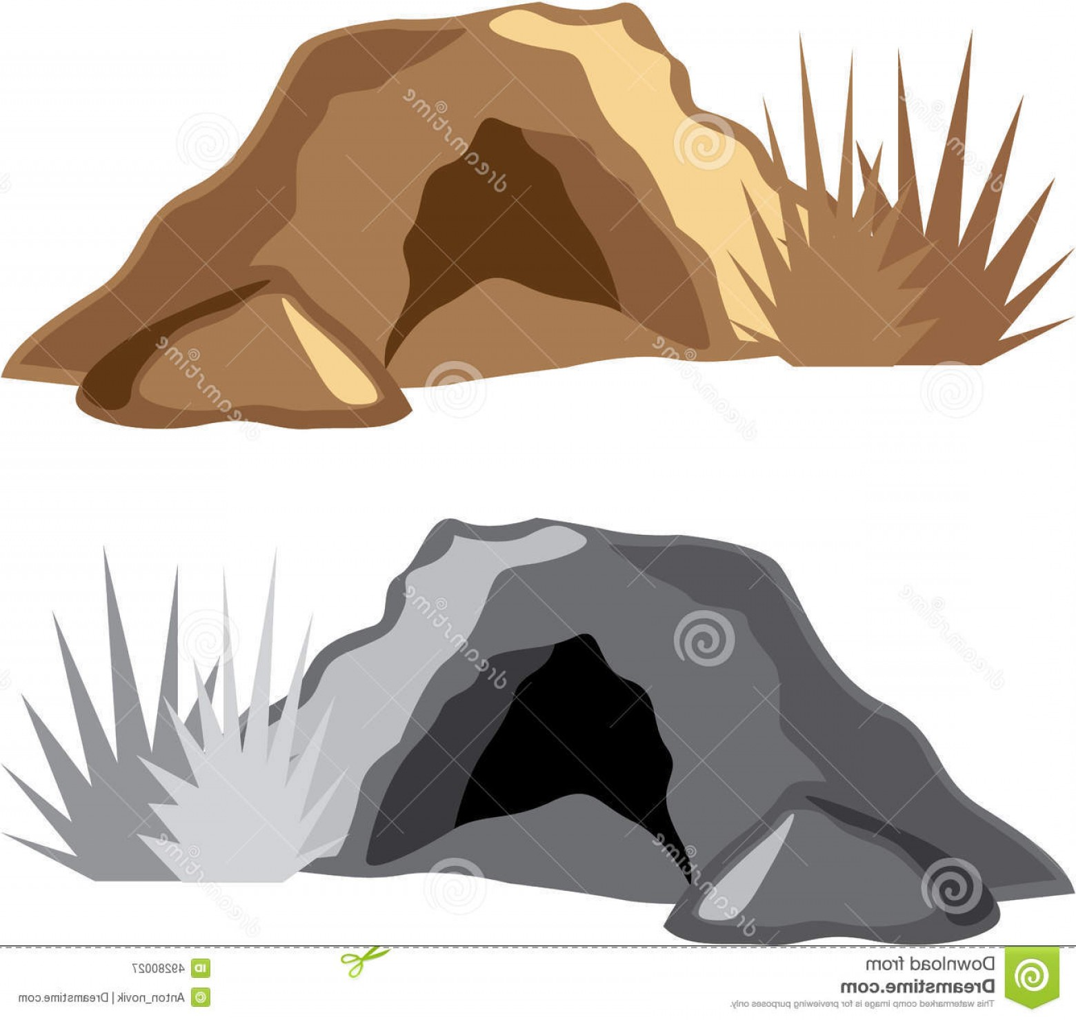 Cave Vector: Stock Illustration Man Cave Vector Illustration Clip Art Image
