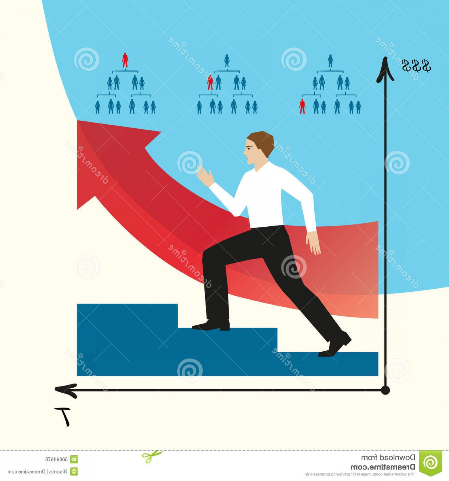 Vector Career Ladder: Stock Illustration Man Does Career Man Goes Career Ladder Eps Jpg Growth Company Vector Infographics Steps Stairs Employee Image