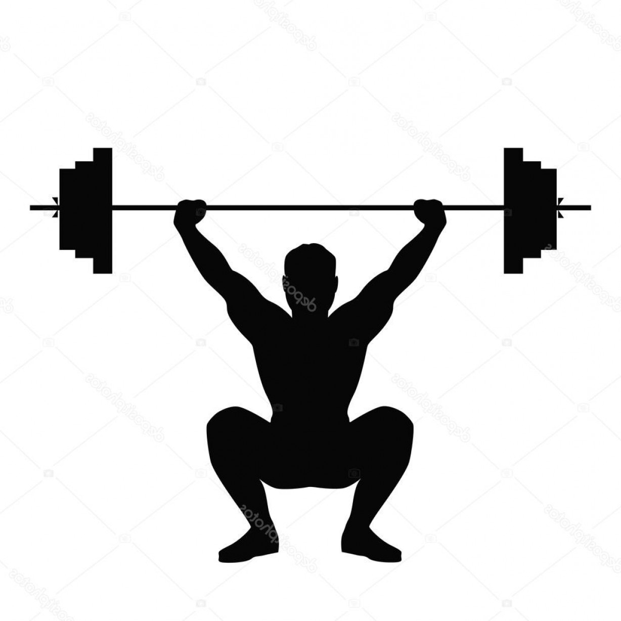 Vector Weight Lifting: Stock Illustration Man Doing Weight Lifting