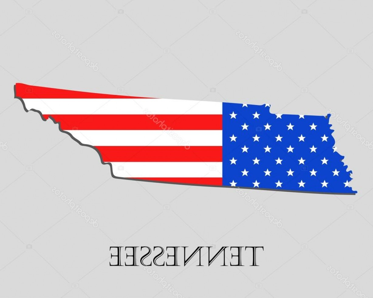 Tennessee Flag Vector: Stock Illustration Map State Of Tennessee In