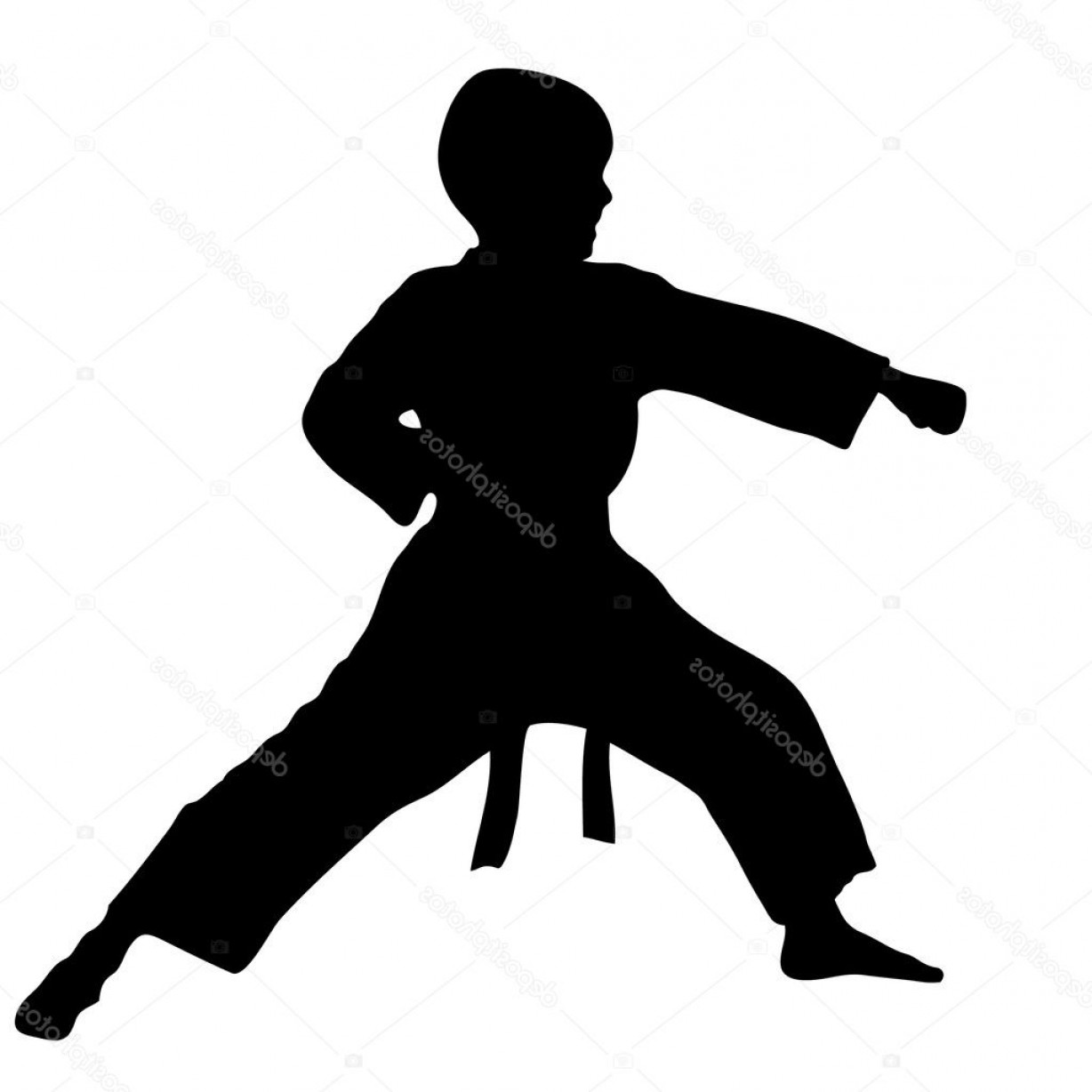 Karate Vector: Stock Illustration Martial Arts Boy Karate Punch
