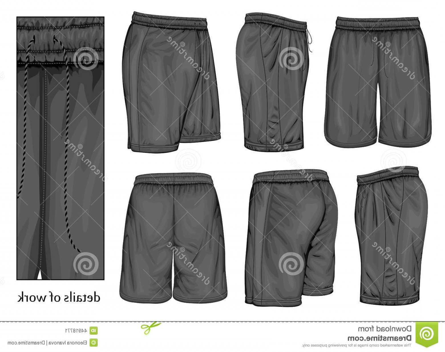 Vector Sport Spot: Stock Illustration Men S Black Sport Shorts Vector Illustration Spot Colors Image