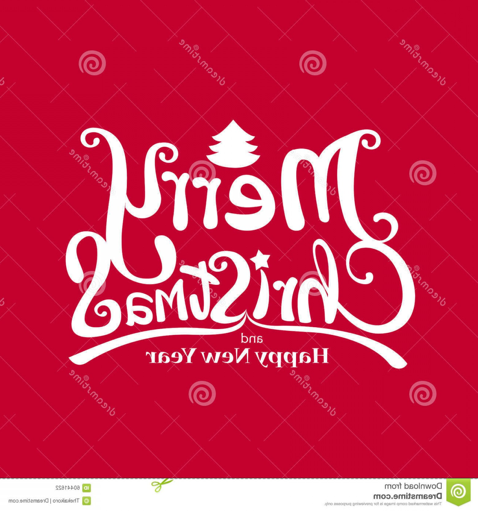 Merry Christmas Vector Graphic: Stock Illustration Merry Christmas Vector Calligraphic Free Hand Write Vector Il Red Background Illustration Eps Image