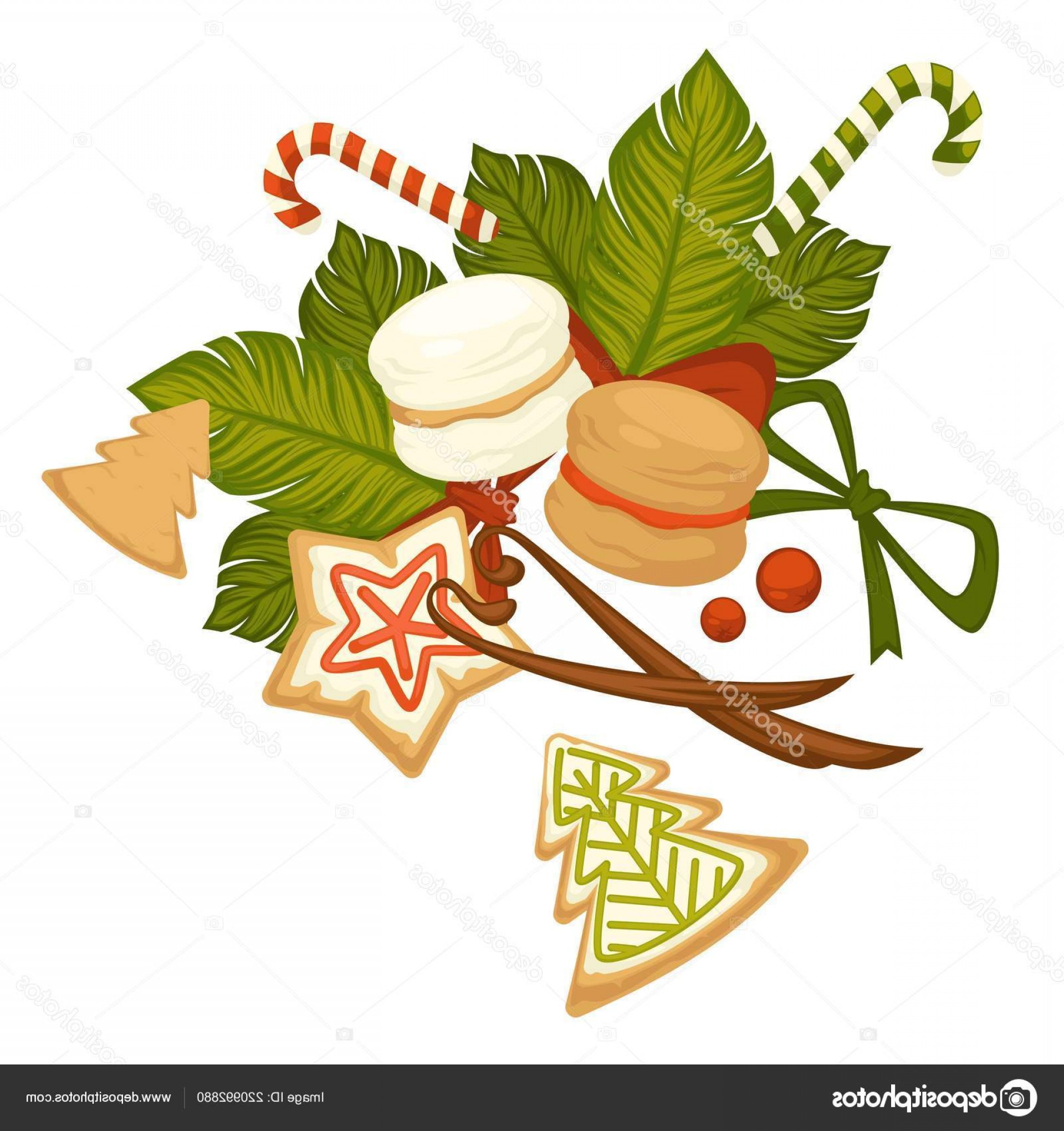 Vectors Holiday Baking: Stock Illustration Merry Christmas Winter Holiday Cookies