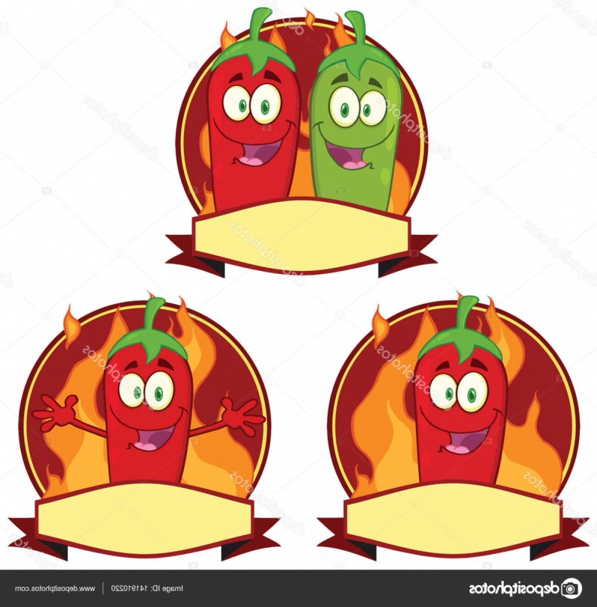 Vector Mexican Chili: Stock Illustration Mexican Chili Peppers Cartoon Mascot