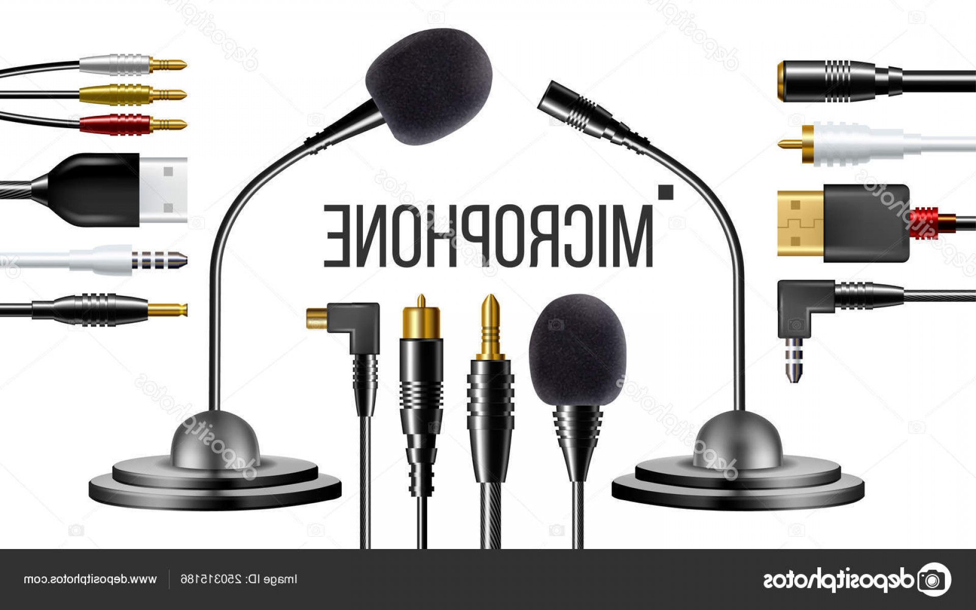 Microphone Recording Vector: Stock Illustration Microphone For Clothes Voice Recording