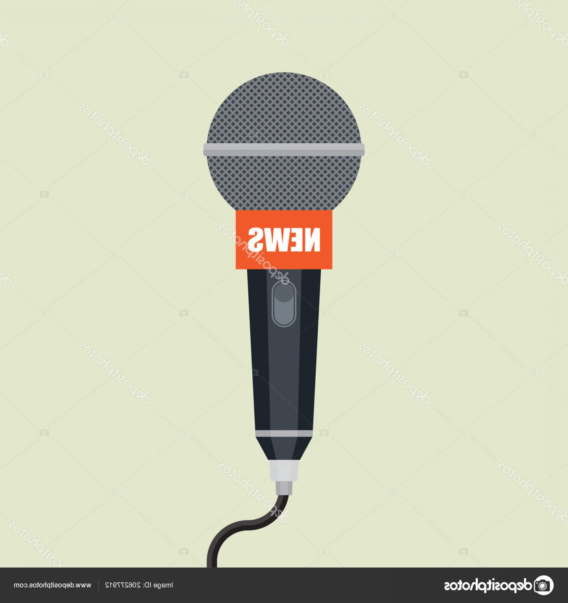 News Microphone Icon Vector: Stock Illustration Microphone Icon Interview News Radio