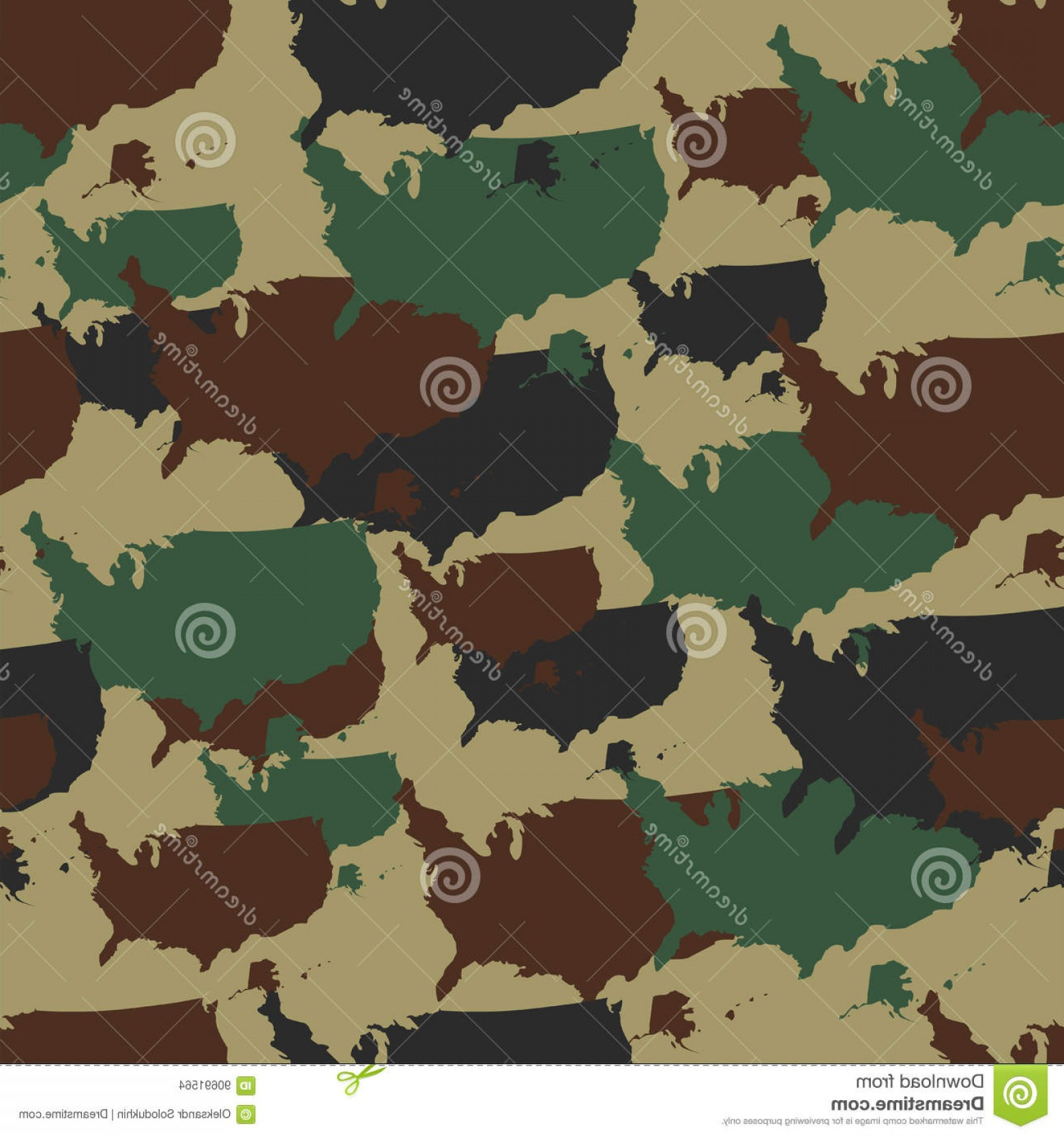 Army Camouflage Pattern Vector: Stock Illustration Military Camouflage Pattern Seamless Repeat Camo Different Colors Vector Military Print Usa Map Army Woodland Image