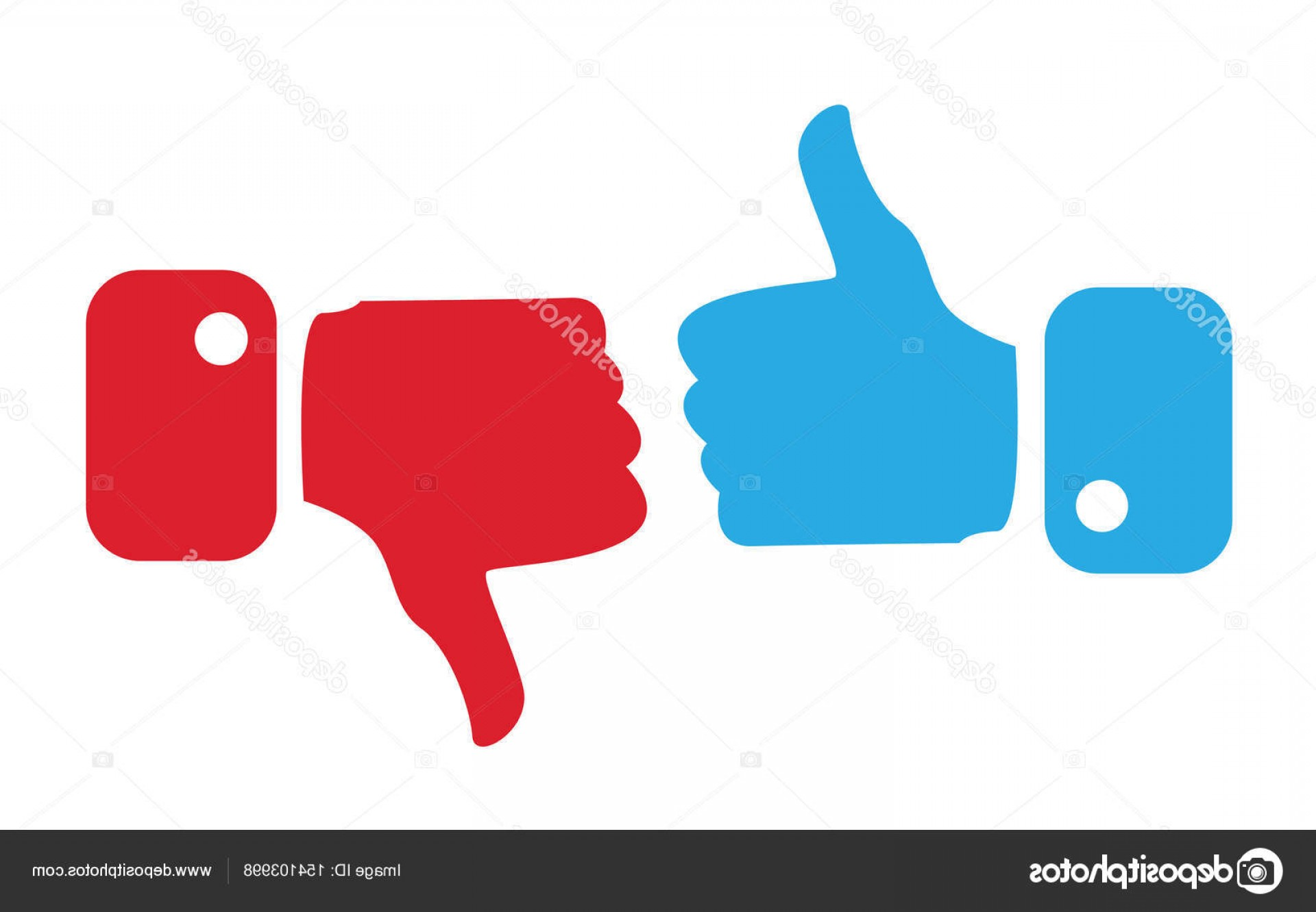 Vector Thumbs Up Down: Stock Illustration Modern Thumbs Up And Thumbs