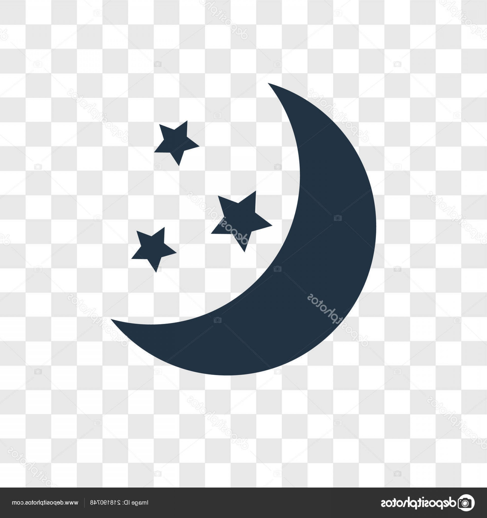 Simple Moon Vector Art: Stock Illustration Moon Vector Icon Isolated Transparent