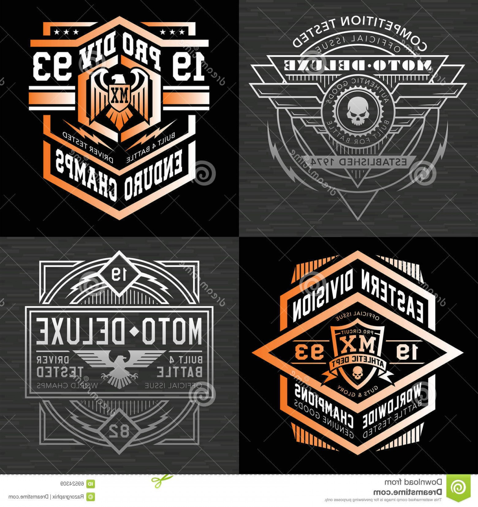 Motor Vector Graphics: Stock Illustration Motor Sport Emblem T Shirt Graphics Vector Graphic Emblems Suitable Multiple Uses Image