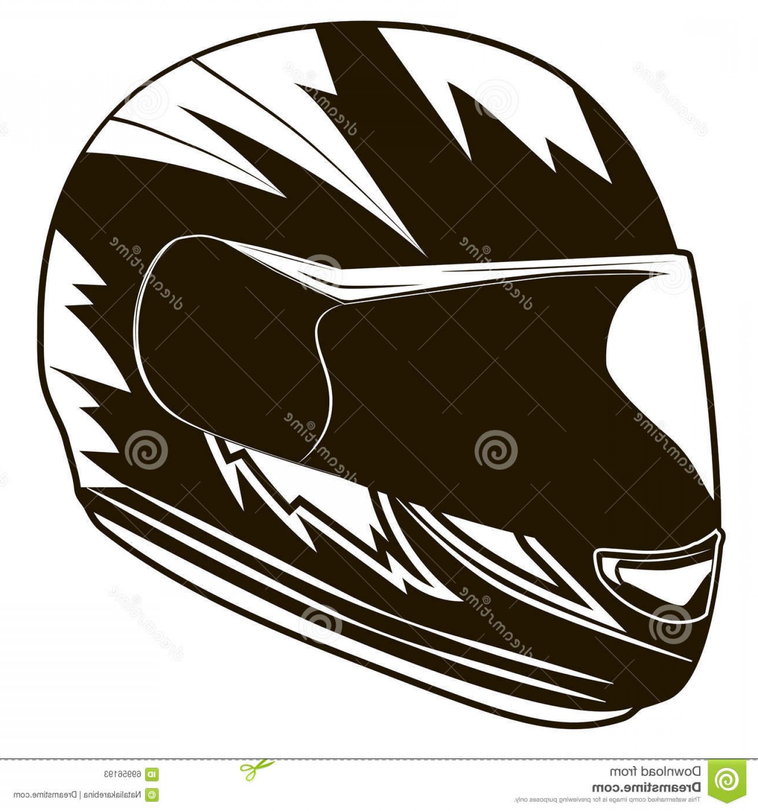 Motorcycle Helmet Vector Art: Stock Illustration Motorcycle Helmet Helmet Biker Vector Illustration Image