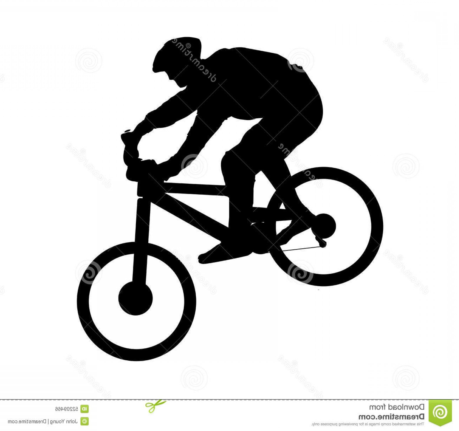 Mountain Bike Silhouette Vector: Stock Illustration Mountain Biker Silhouette Going Down Hill Vector Format Can Be Re Sized Re Colored Image