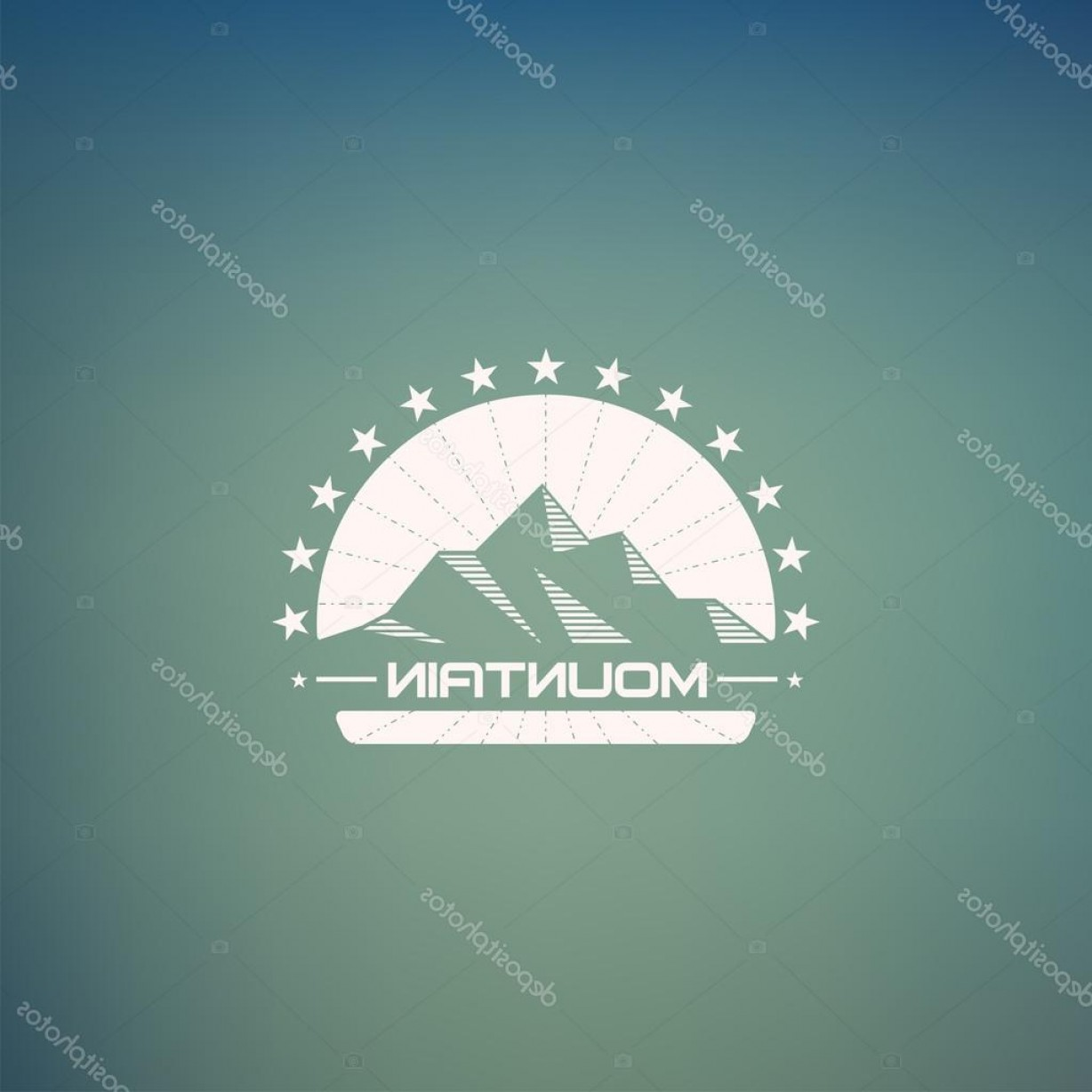 Hipster Logo Vectors Mountain: Stock Illustration Mountain Lineart Logo Mountain Hipster