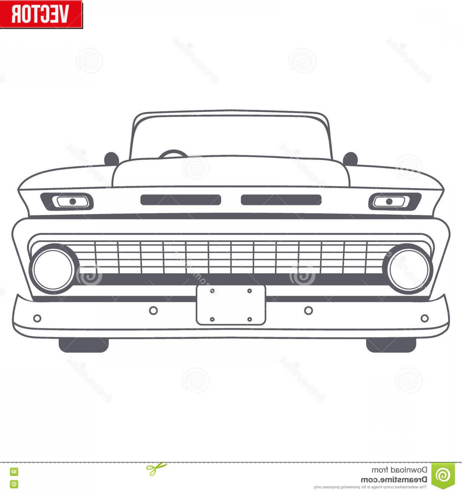 Car Vector Front Elevation: Stock Illustration Muscle Car Vector Symbol Delivery Company Monochrome Design Front View Illustration Isolated Background Image
