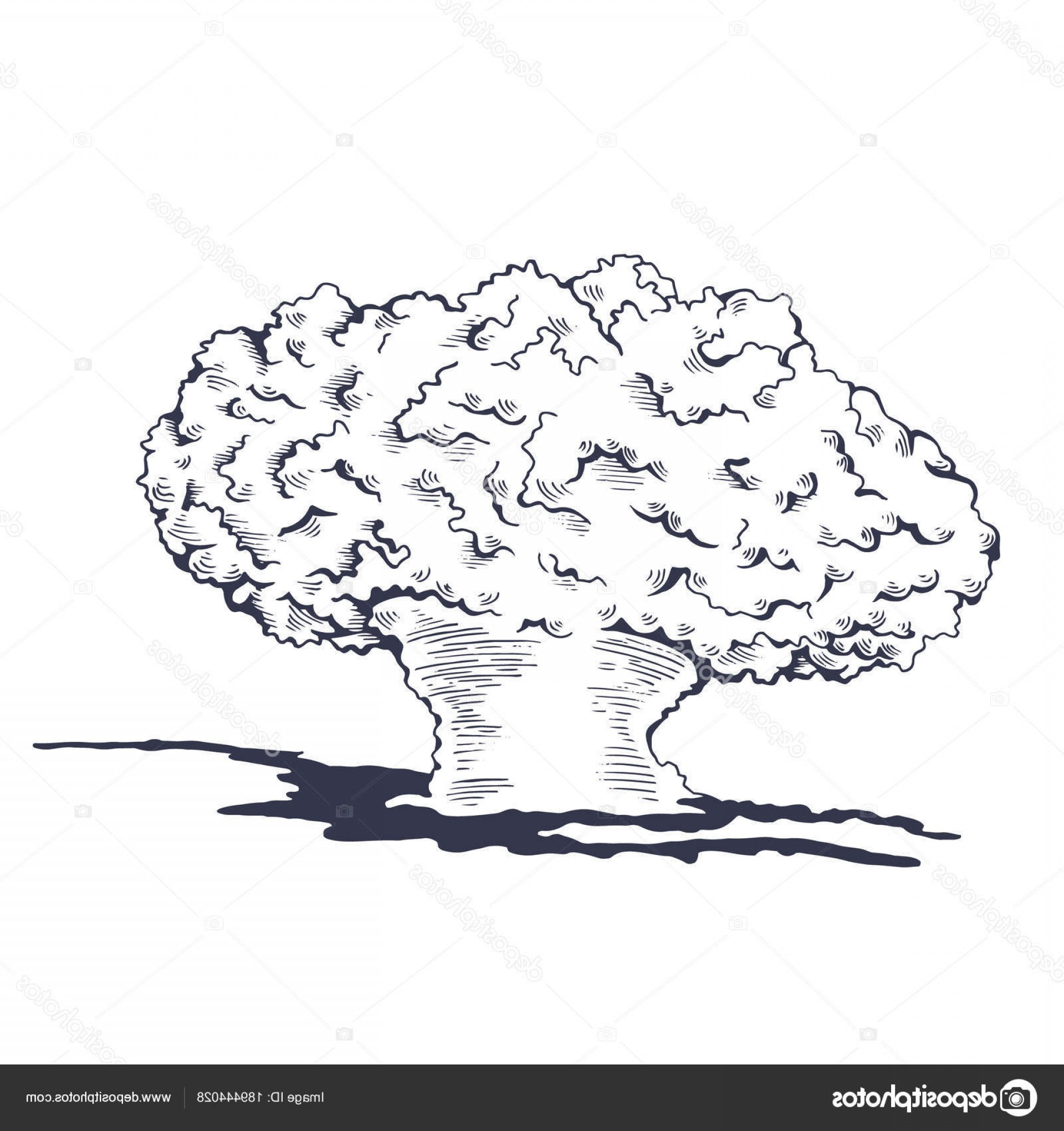 Atomic Vector Coud: Stock Illustration Mushroom Cloud From The Atomic