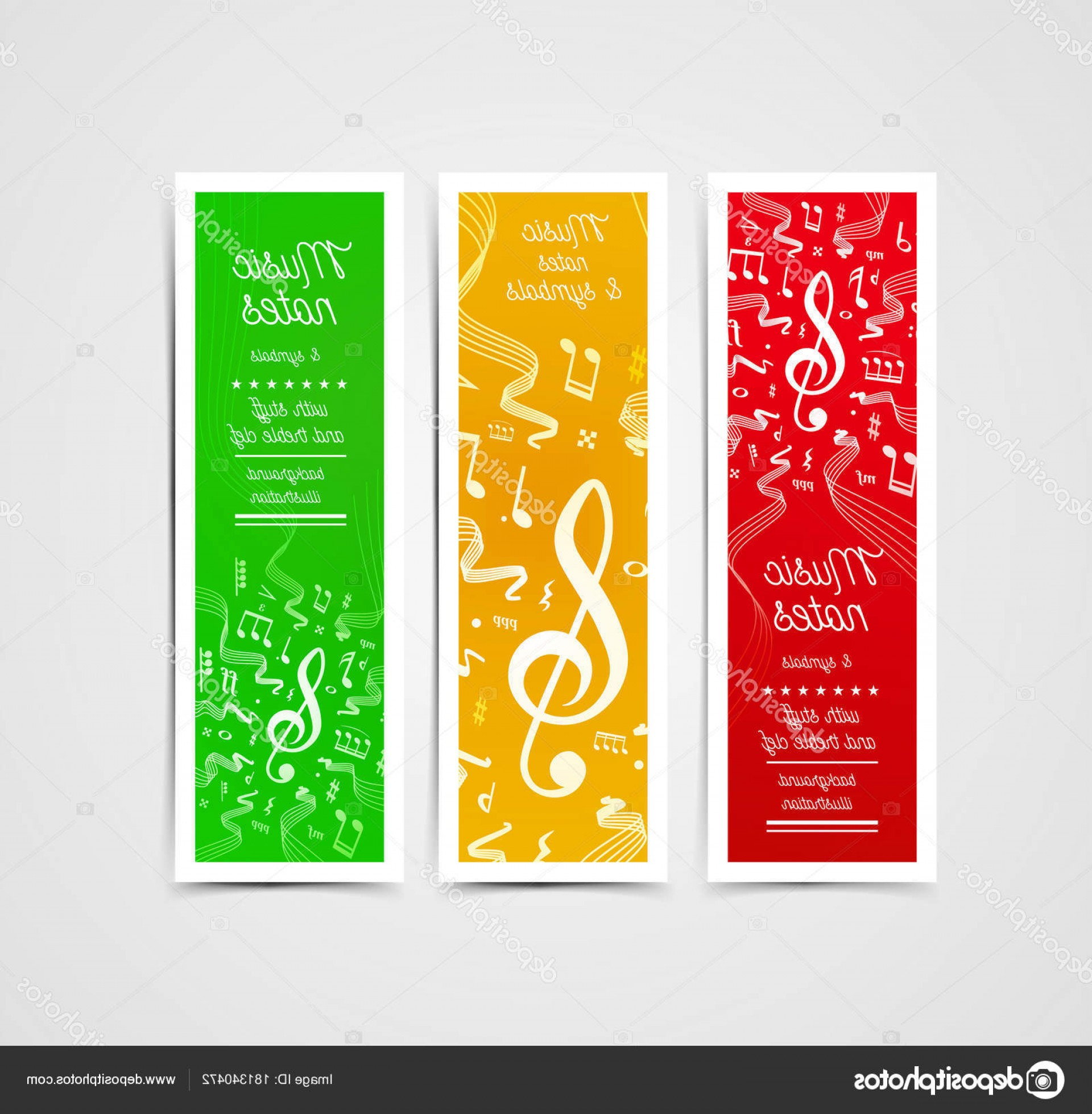 Musical Vector Artwork: Stock Illustration Musical Staves Vector Illustration With
