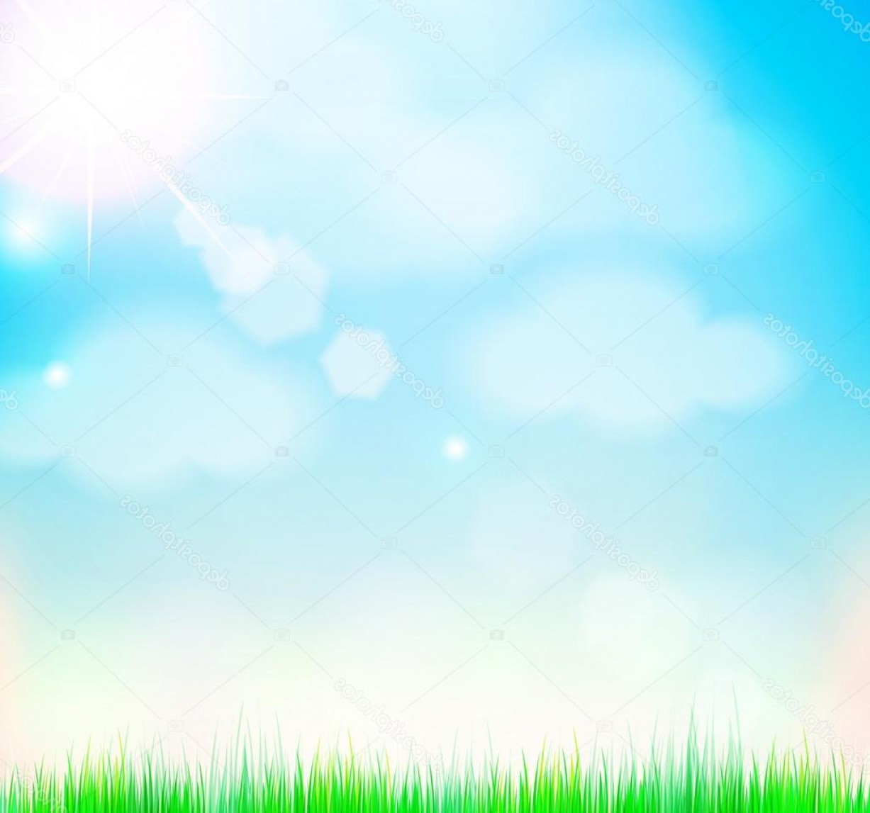 Vector Natural Background Sky: Stock Illustration Natural Sky Background With Sun