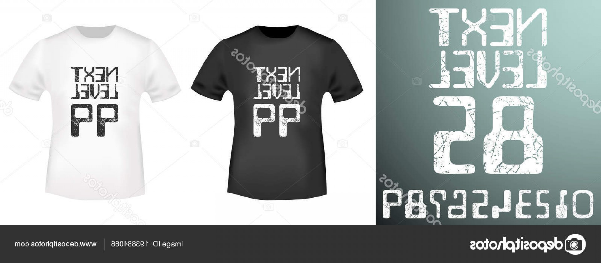 Vector Stamp Shirts: Stock Illustration Next Level Numbers Stamp And