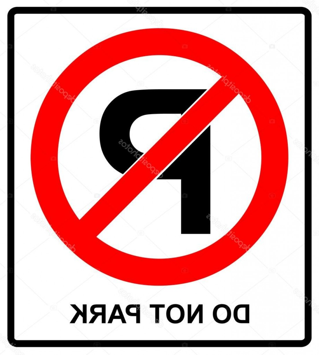 Vector Do Not: Stock Illustration Not Parking Sign Vector Do