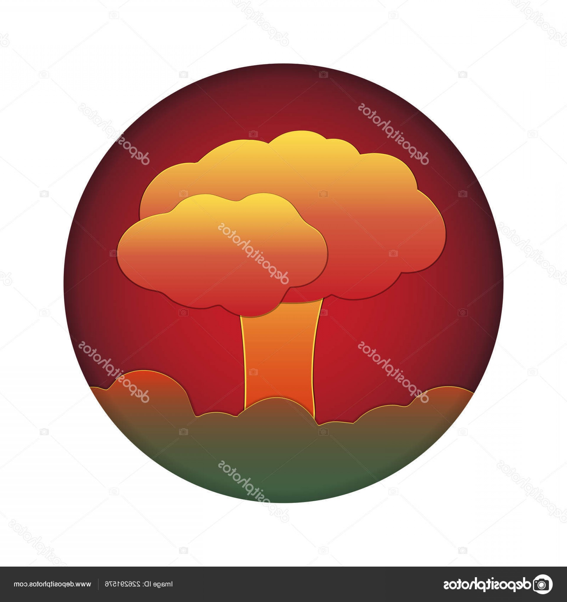 Atomic Bomb Explosion Vector: Stock Illustration Nuclear Explosion Atomic Bomb City