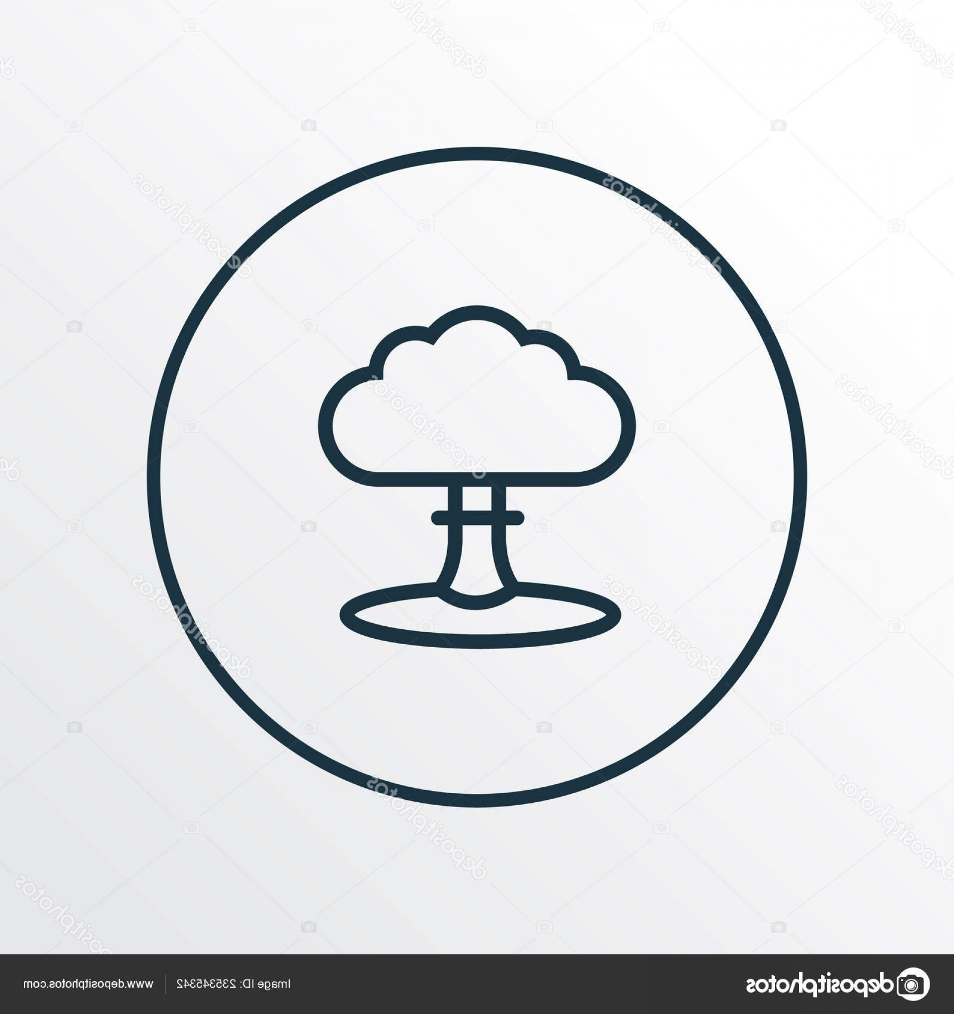 Atomic Bomb Explosion Vector: Stock Illustration Nuclear Explosion Icon Line Symbol