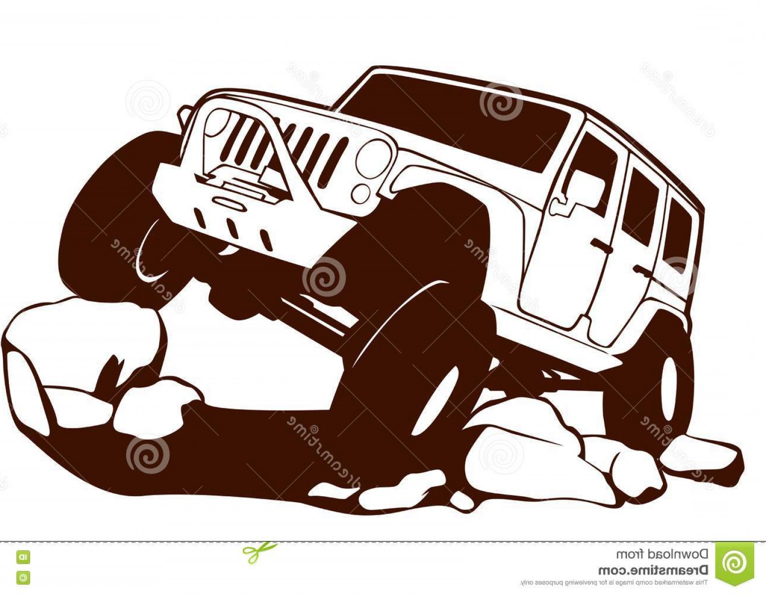 Jeep Off-Road Vector Art: Stock Illustration Offroad Jeep Vector T Shirt Logo Etc Image