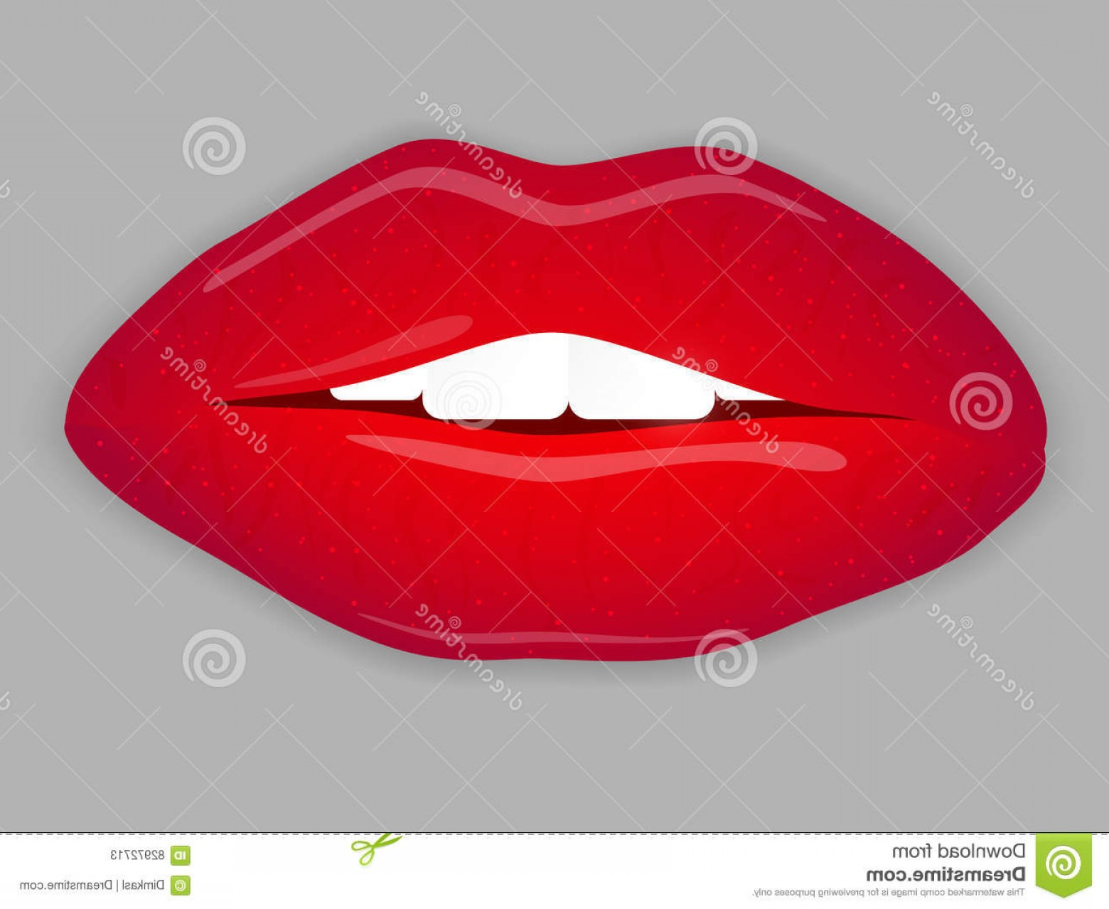 Doll Lips Vector: Stock Illustration Open Mouth Red Lips Vector Illustration Eps Image