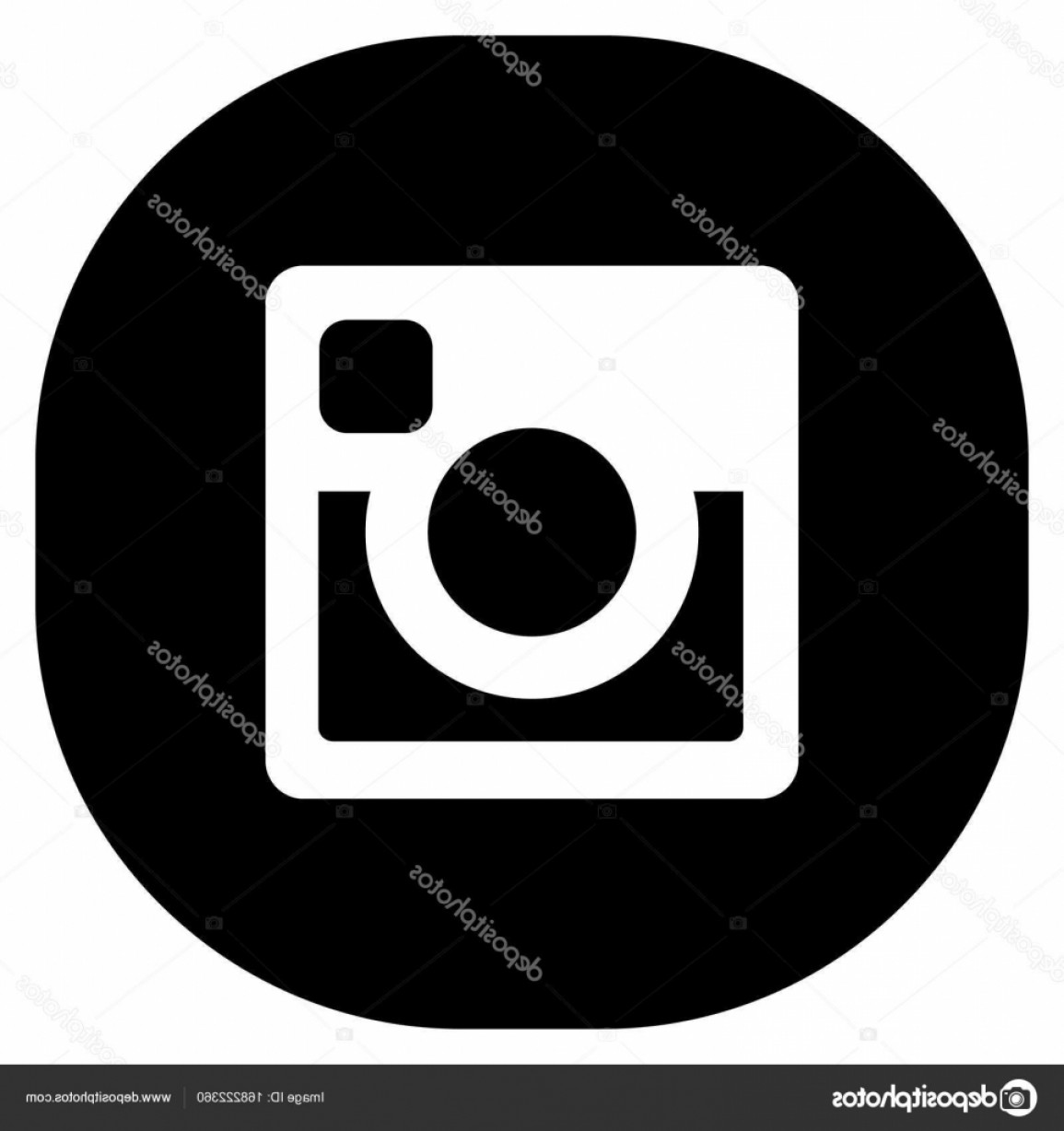Official Instagram Icon Vector: Stock Illustration Original Black Round Square Web