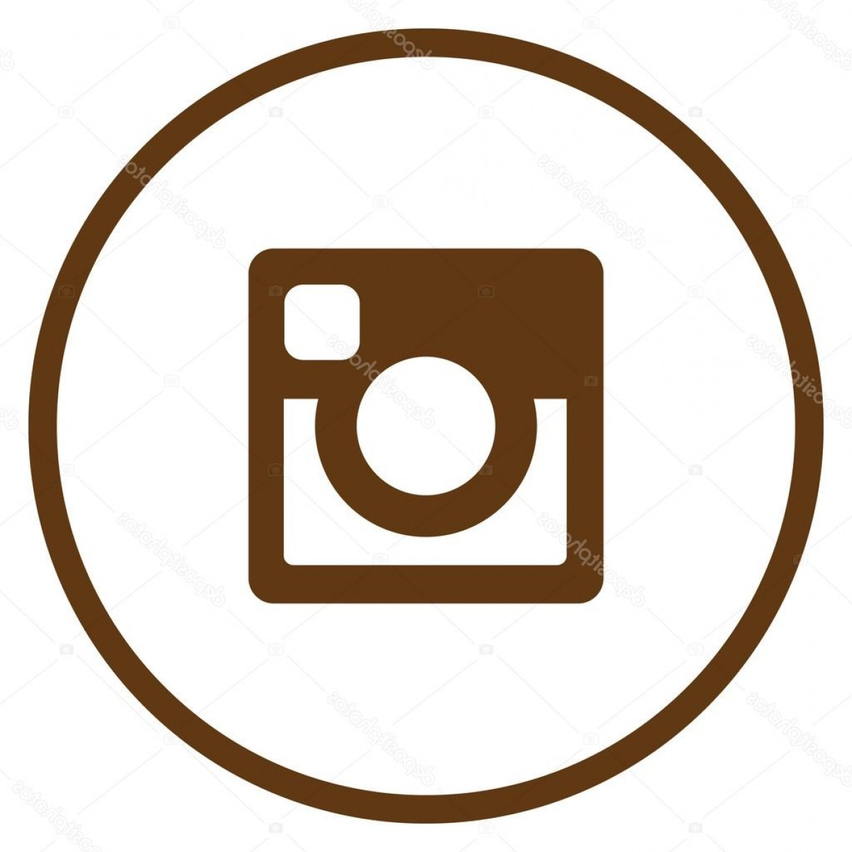 Official Instagram Icon Vector: Stock Illustration Original Brown Circle Instagram Icon