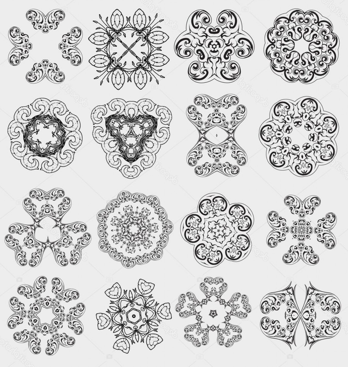 Vector Ornament Sets: Stock Illustration Originally Created Vector Ornament Collection