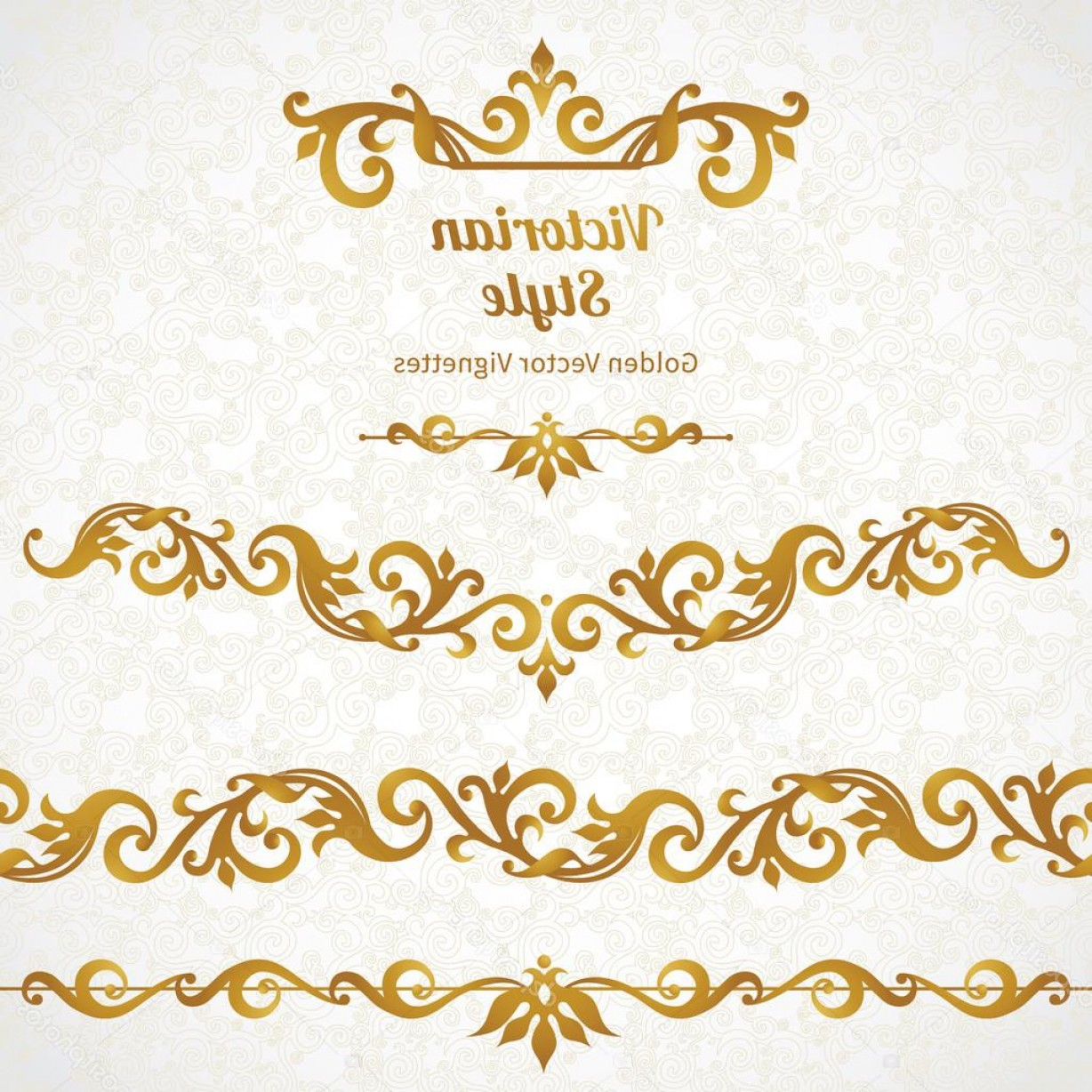 Gold Ornate Borders Vector: Stock Illustration Ornate Borders And Vignettes