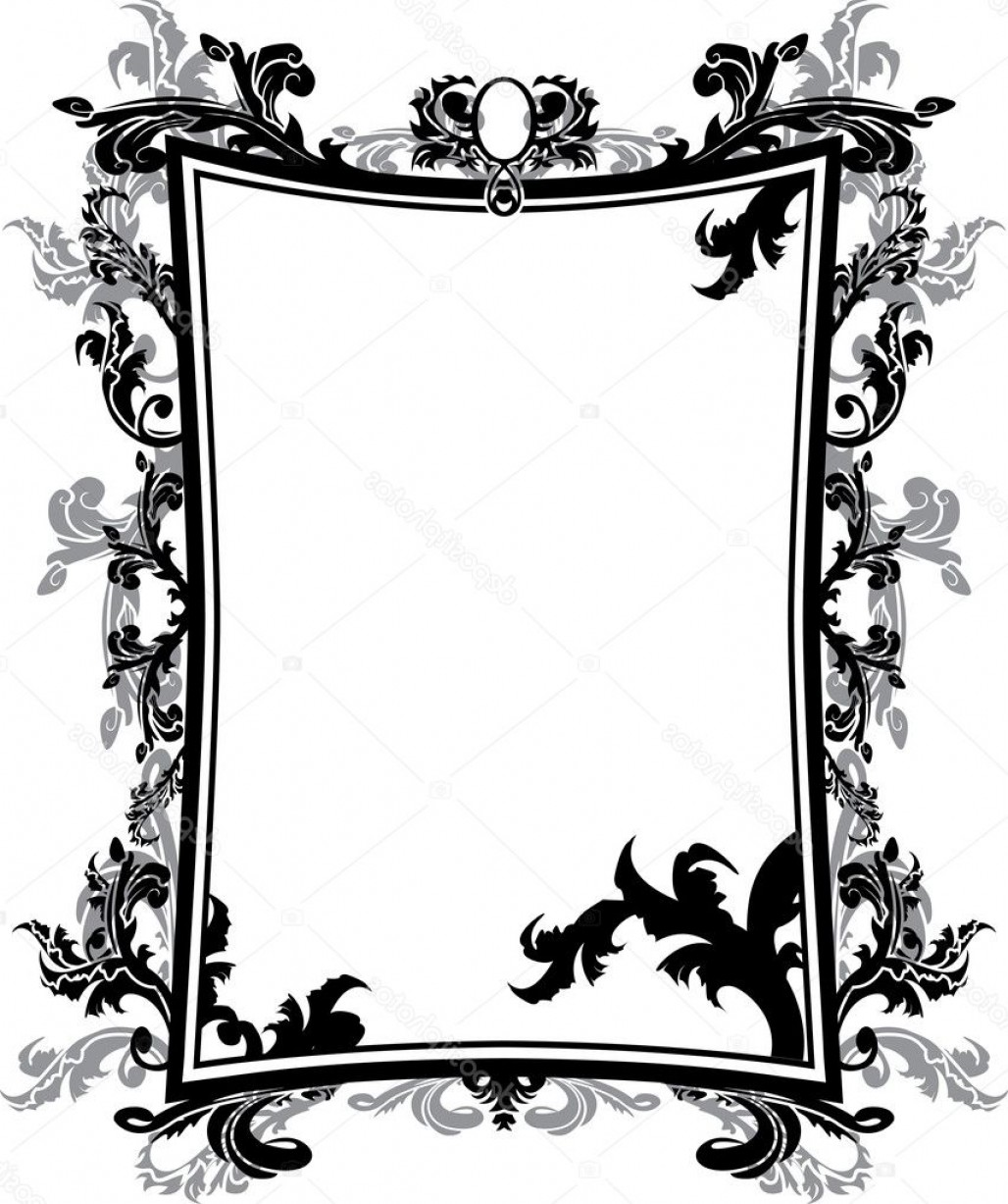 Vector Ornate Vintage Frame Blank: Stock Illustration Ornate Vintage Frame Stencil