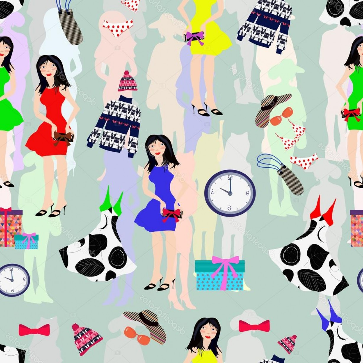 Fashon Shows Vectores: Stock Illustration Overstock And Fashion Show Womens
