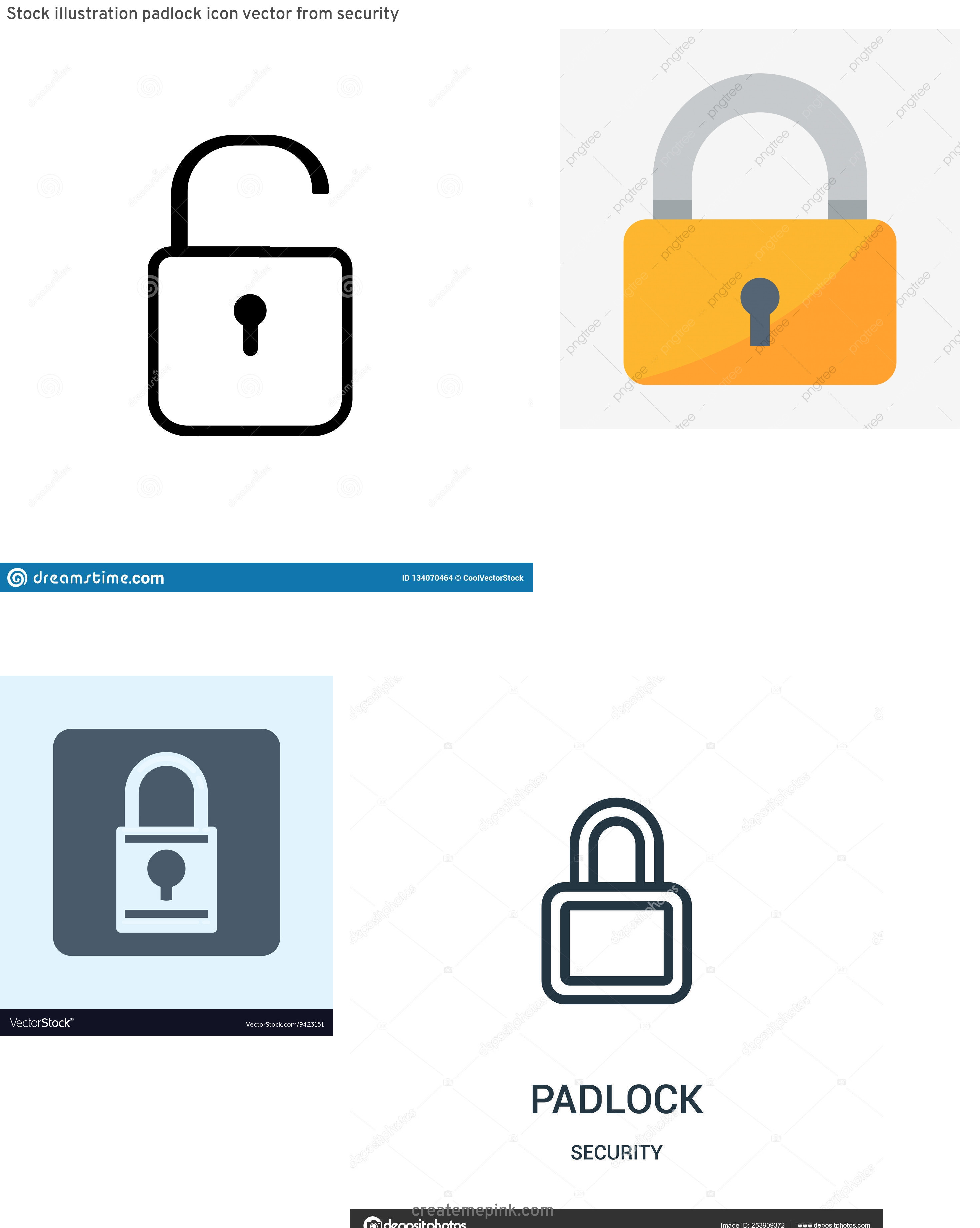 Padlock Icon Vector: Stock Illustration Padlock Icon Vector From Security