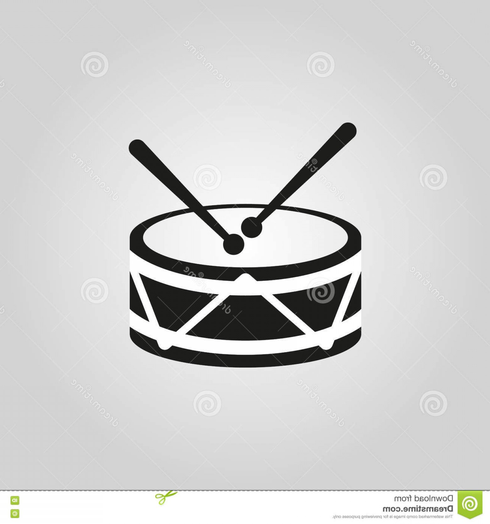 Kick Drum Vector: Stock Illustration Parade Drum Icon Image Vector Illustration Design Image