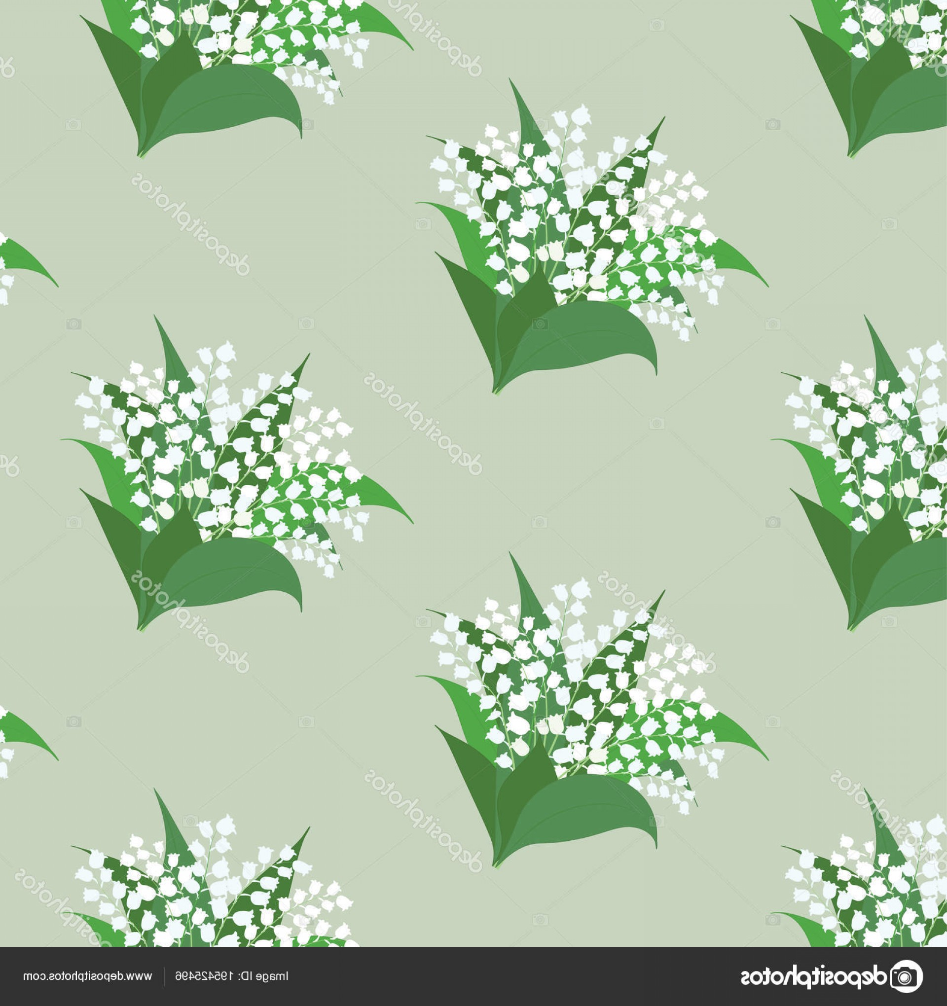 Lily Vector Art: Stock Illustration Pattern Lily Of The Valley