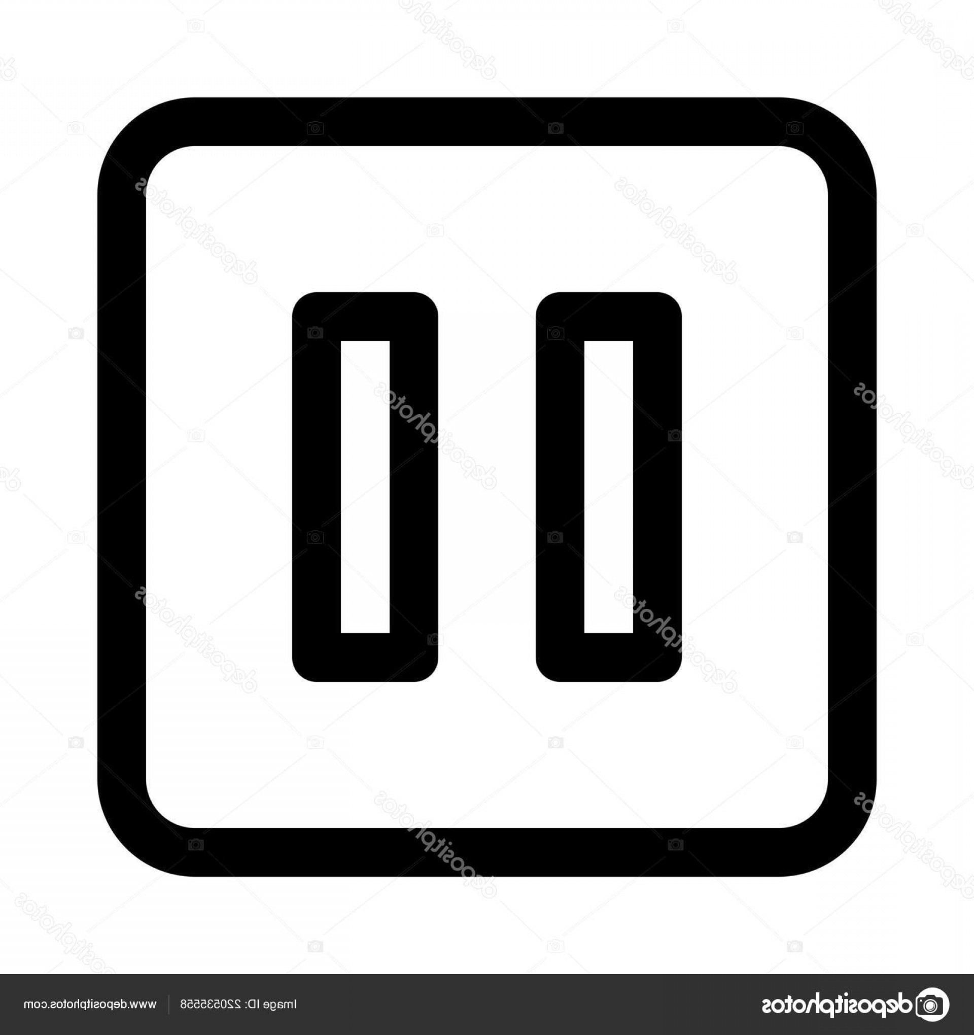 Pause Symbol Vector: Stock Illustration Pause Button Isolated Background Vector