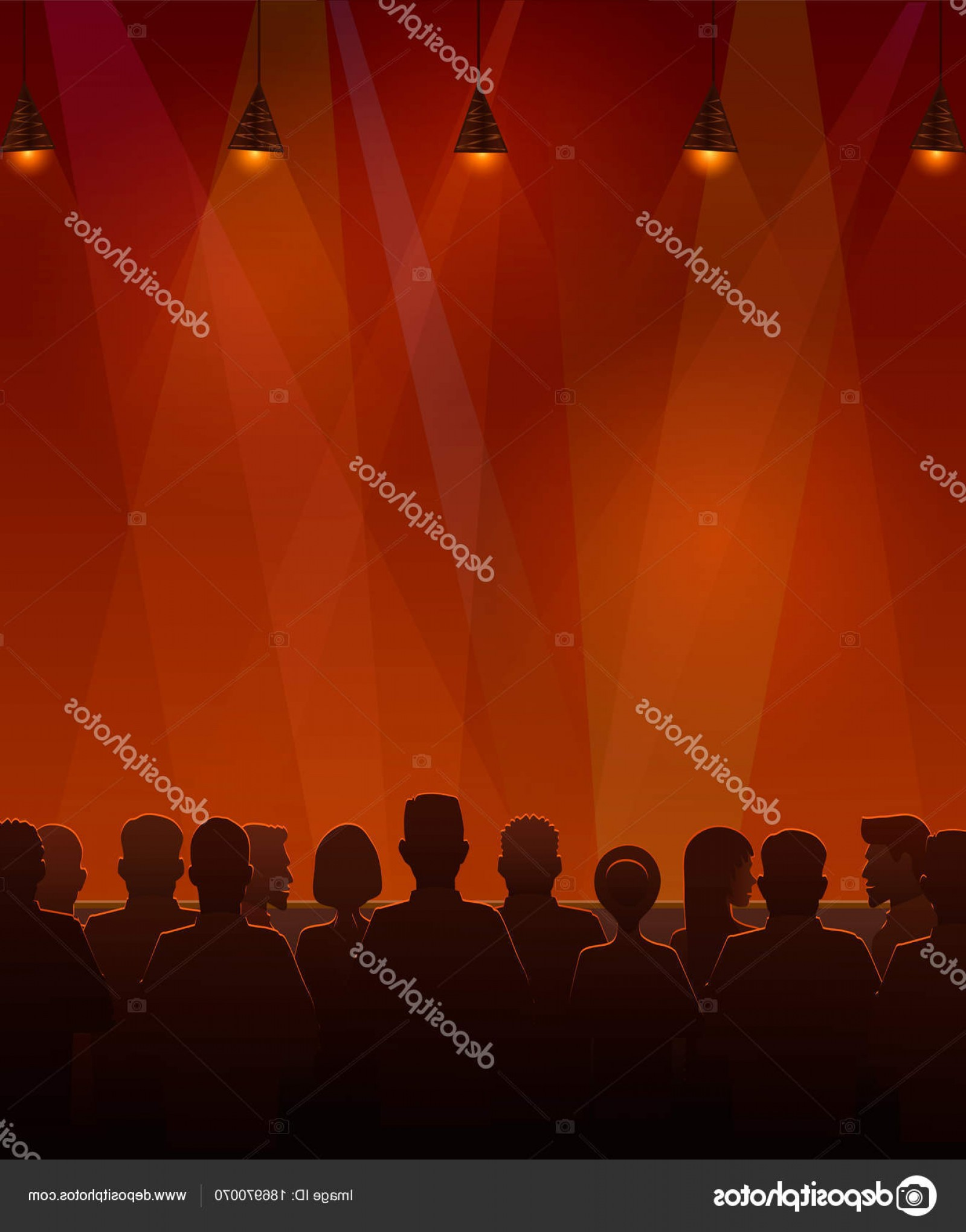 Vector Stage Audience: Stock Illustration People Sitting At The Stage