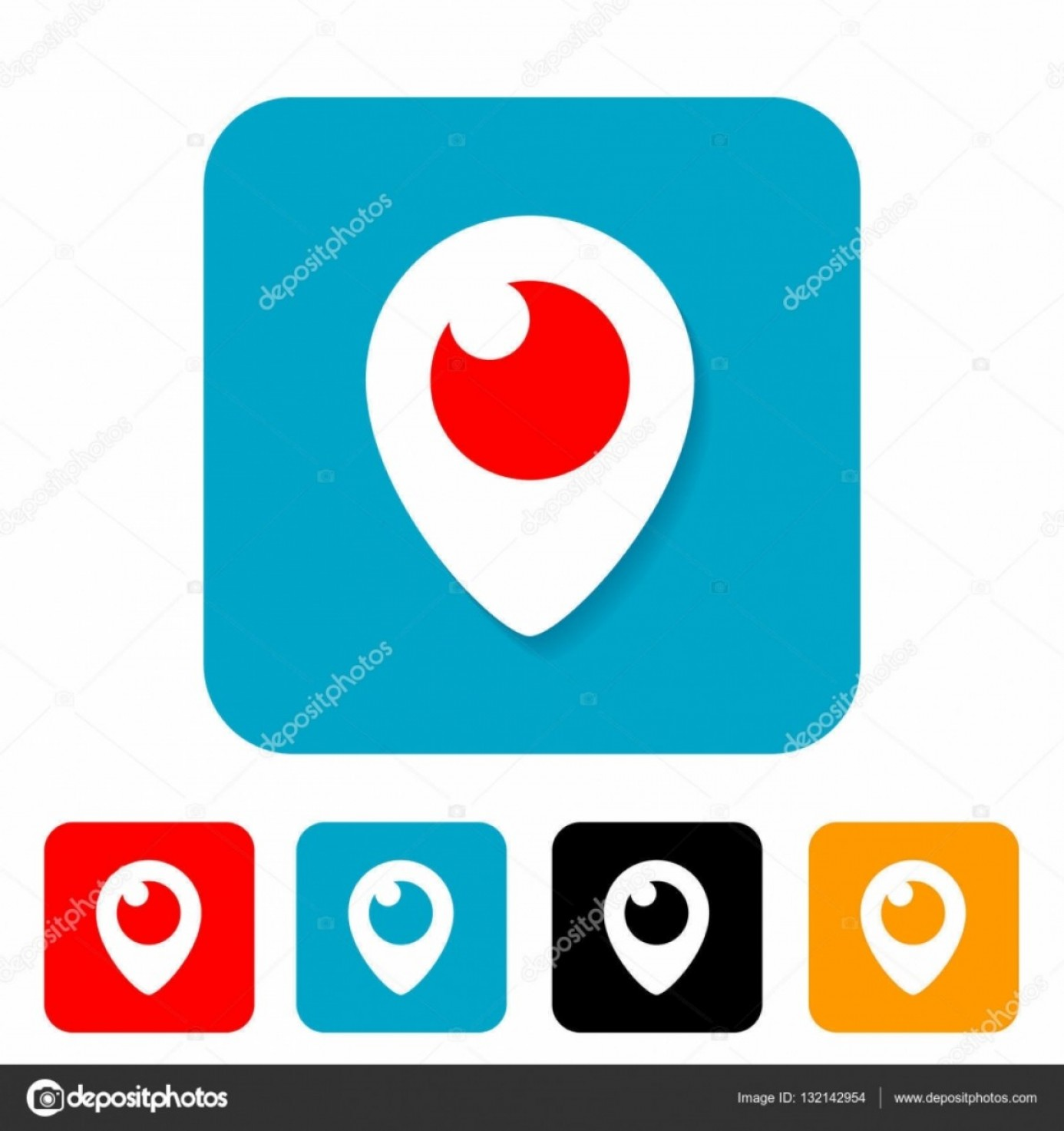 Periscope Logo Vector: Stock Illustration Periscope Icon Vector Illustration