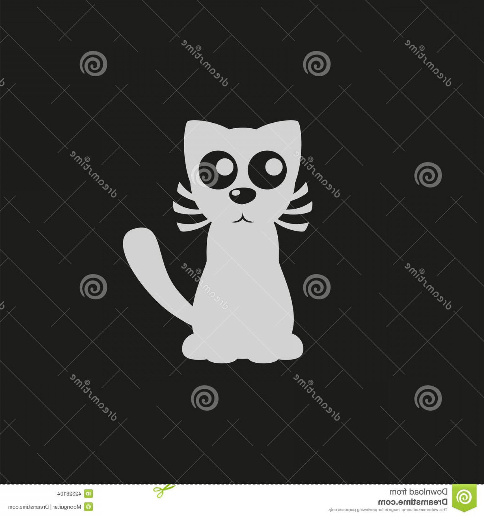 Malee Cat Head Silhouette Vector: Stock Illustration Pet Shop Logo Cartoon Cat Sign Cat Silhouette Vector Illustration Image