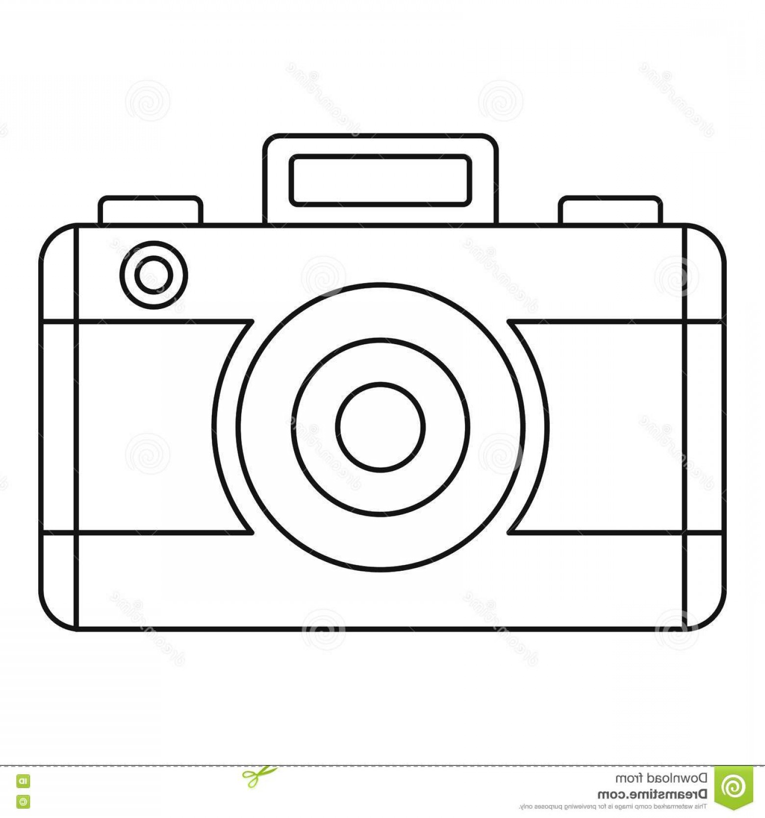 Camera Outline Vector Graphic: Stock Illustration Photo Camera Icon Outline Style Illustration Vector Web Image
