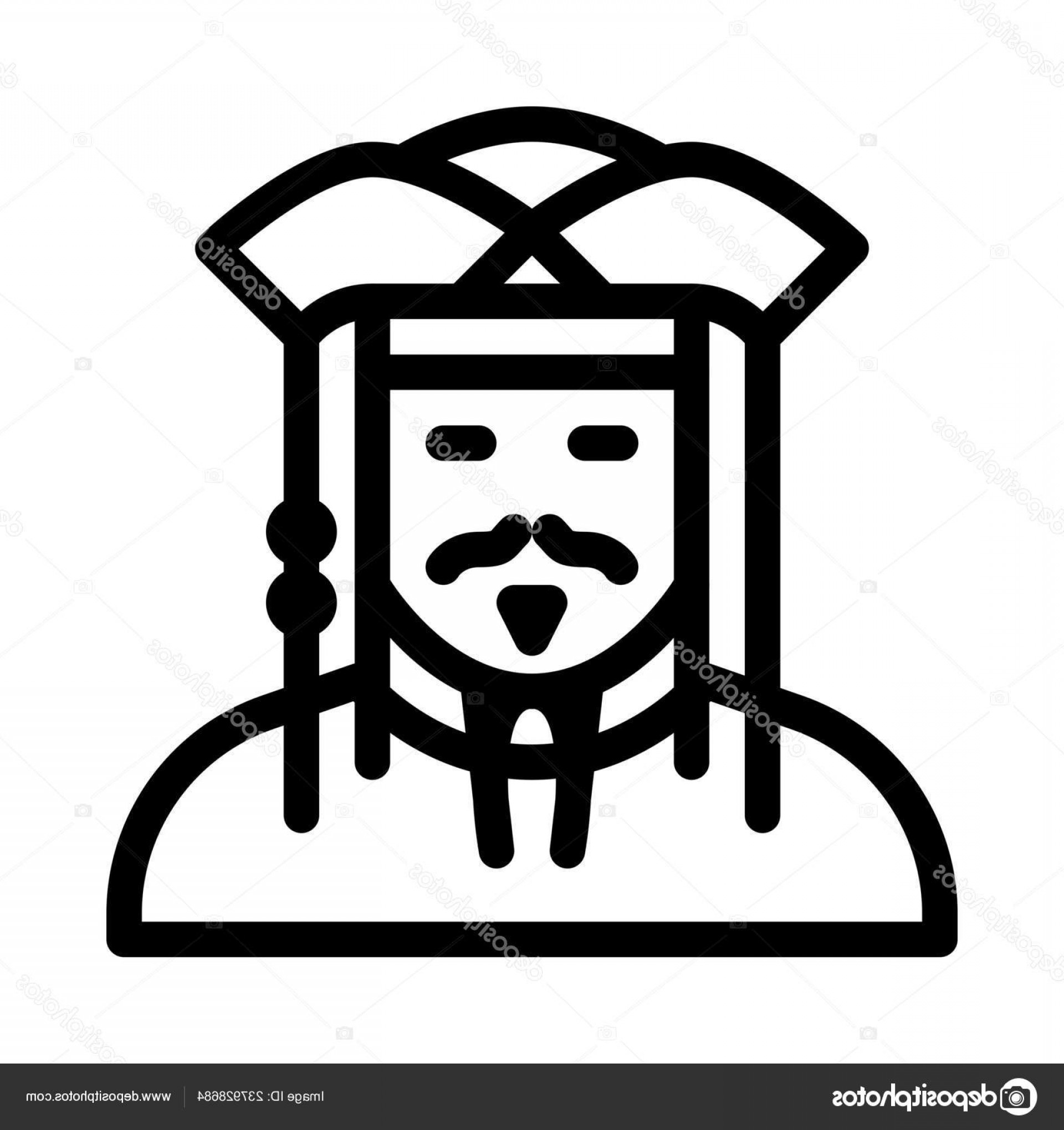 Jack Sparrow Vector Logo: Stock Illustration Pirate Jack Sparrow Icon Vector