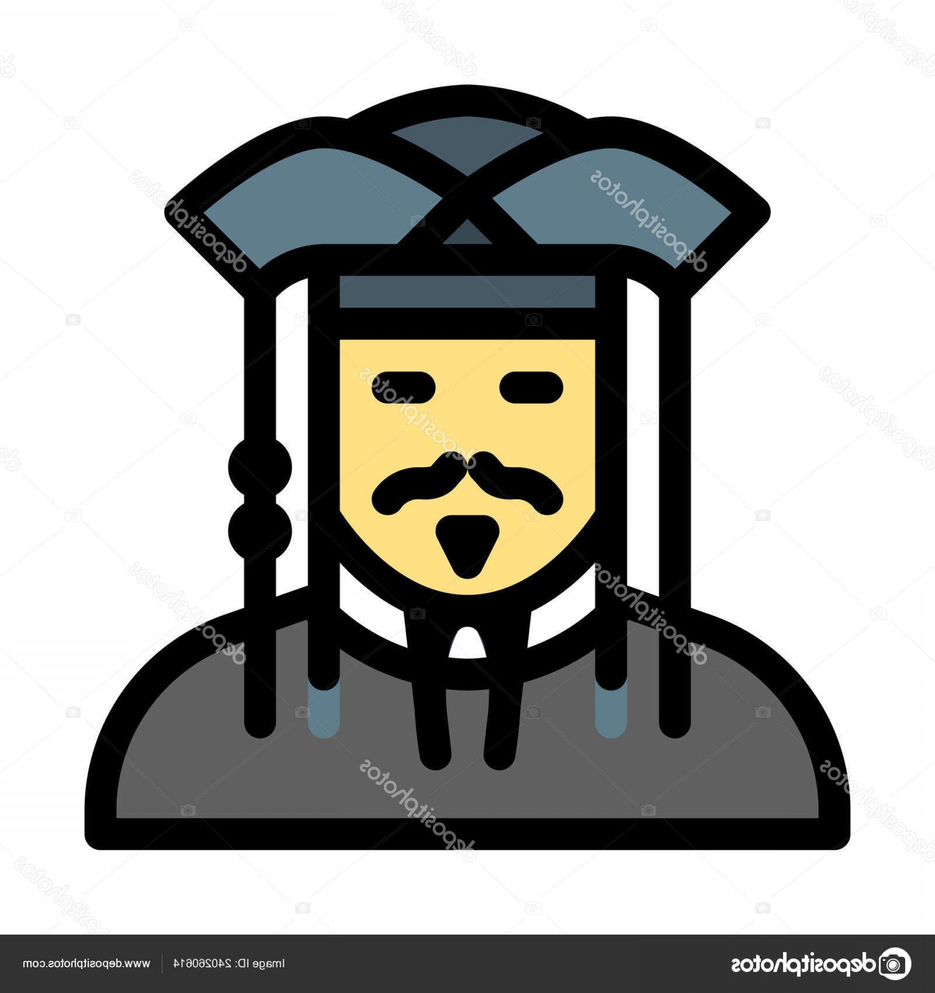 Jack Sparrow Vector Logo: Stock Illustration Pirate Jack Sparrow Isolated White
