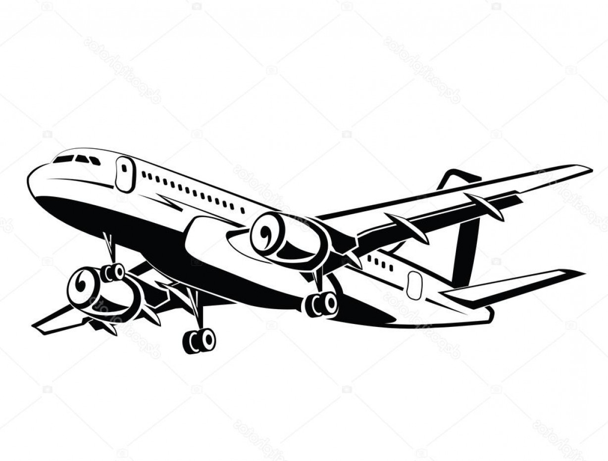 Airplane Travel Vectors: Stock Illustration Plane Is Landing And Take